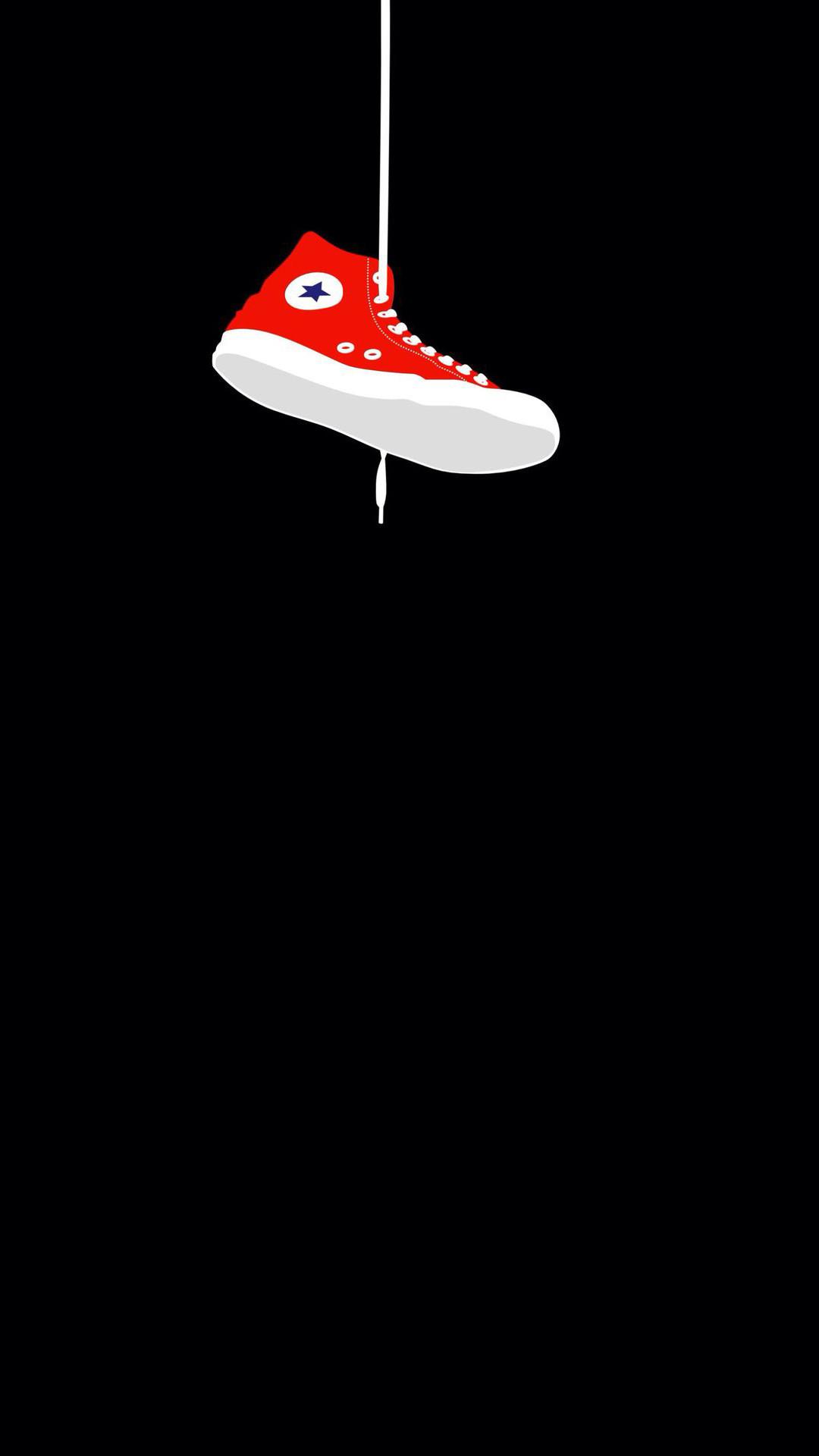 Converse Sneaker Hanging #iPhone #7 #wallpaper