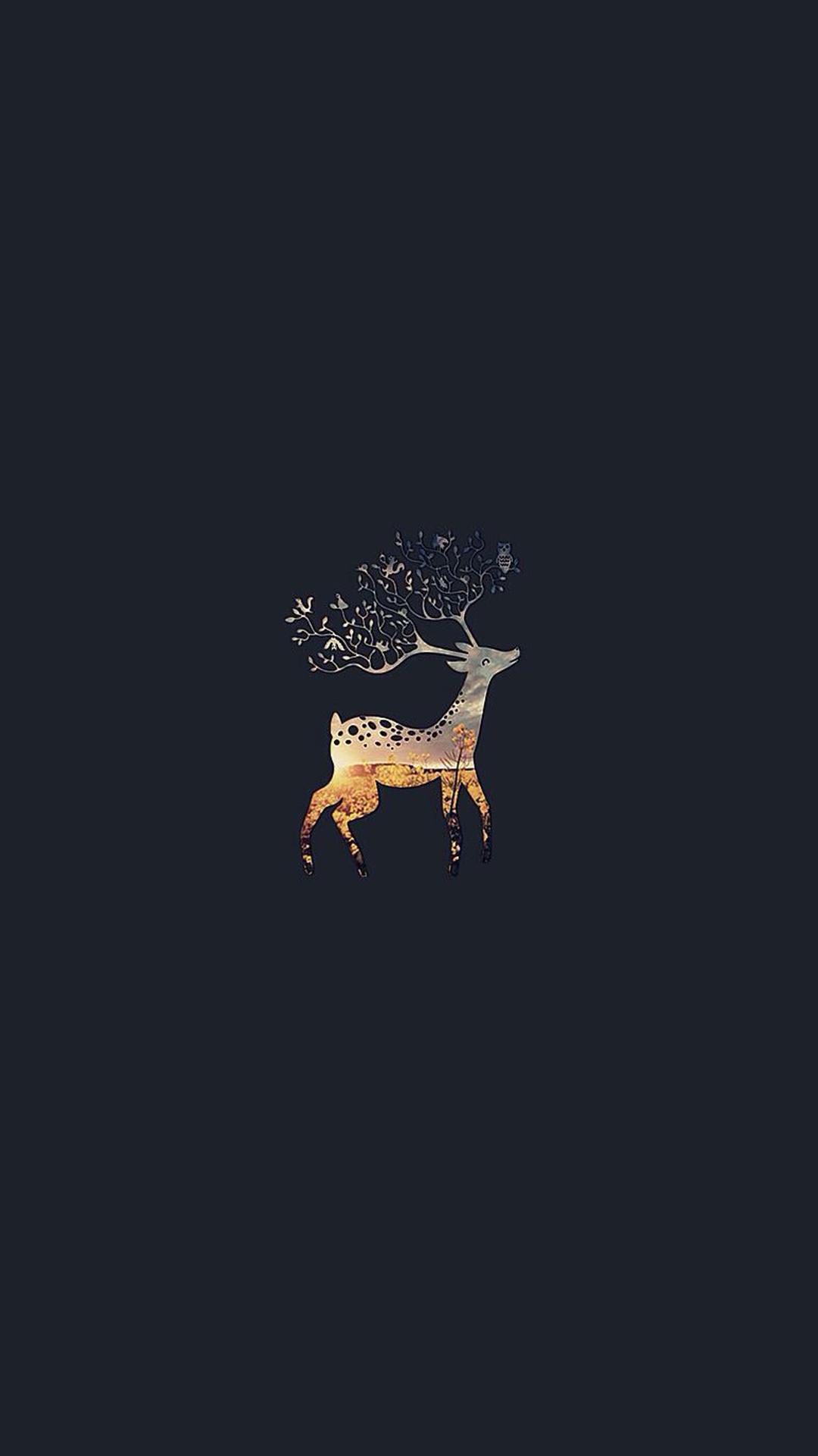 Deer Branch Horns #iPhone #6 #wallpaper