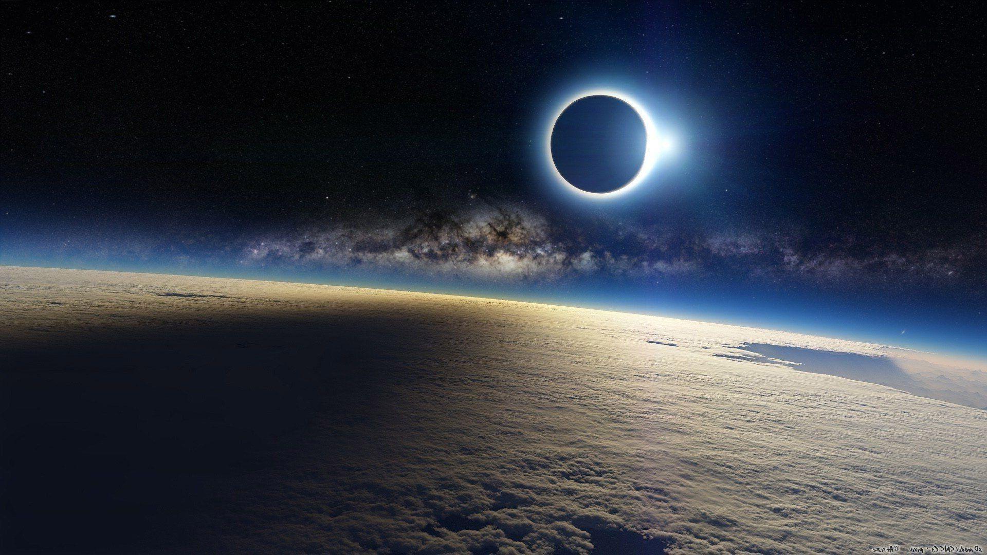 Partial Solar Eclipse NASA wallpaper. 1920×1080
