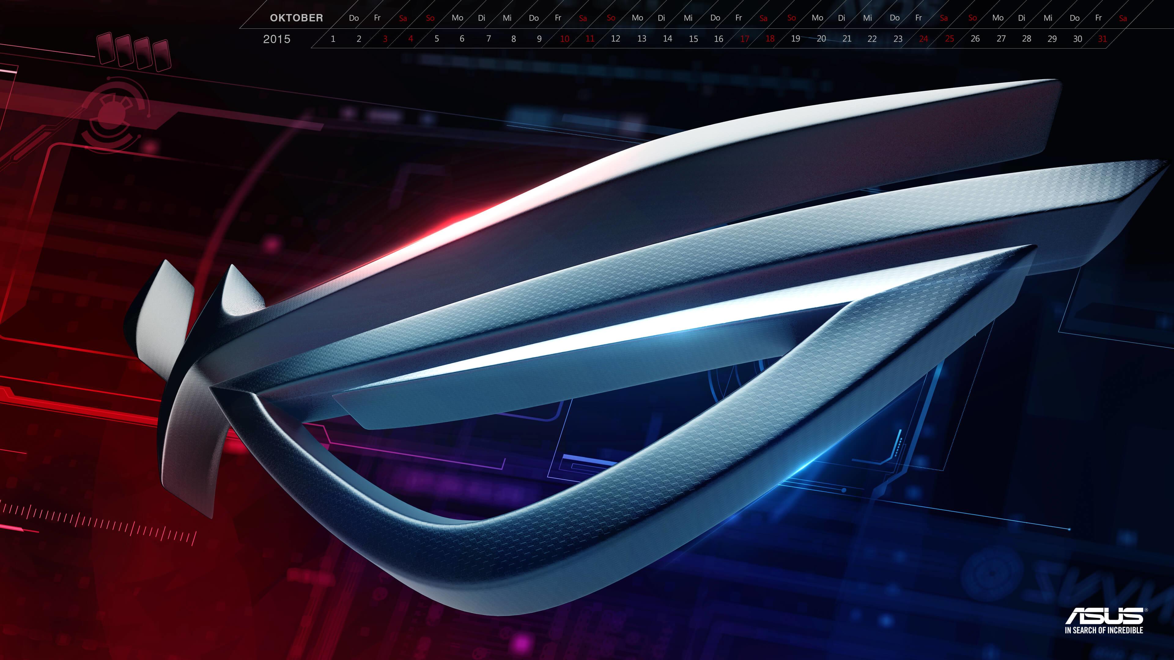 Download Wallpaper 2560×1440 Asus, Logo, Republic of gamers .