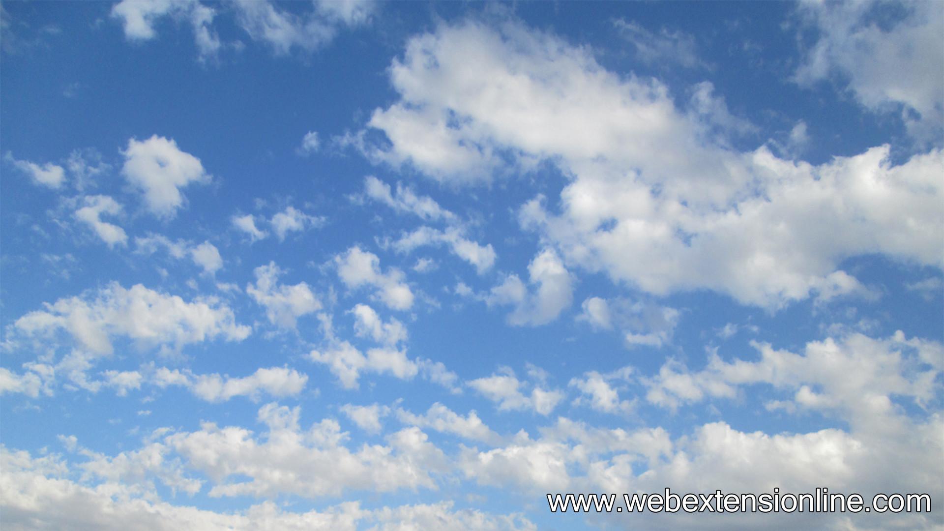 HD Blue Sky White Clouds Wallpaper
