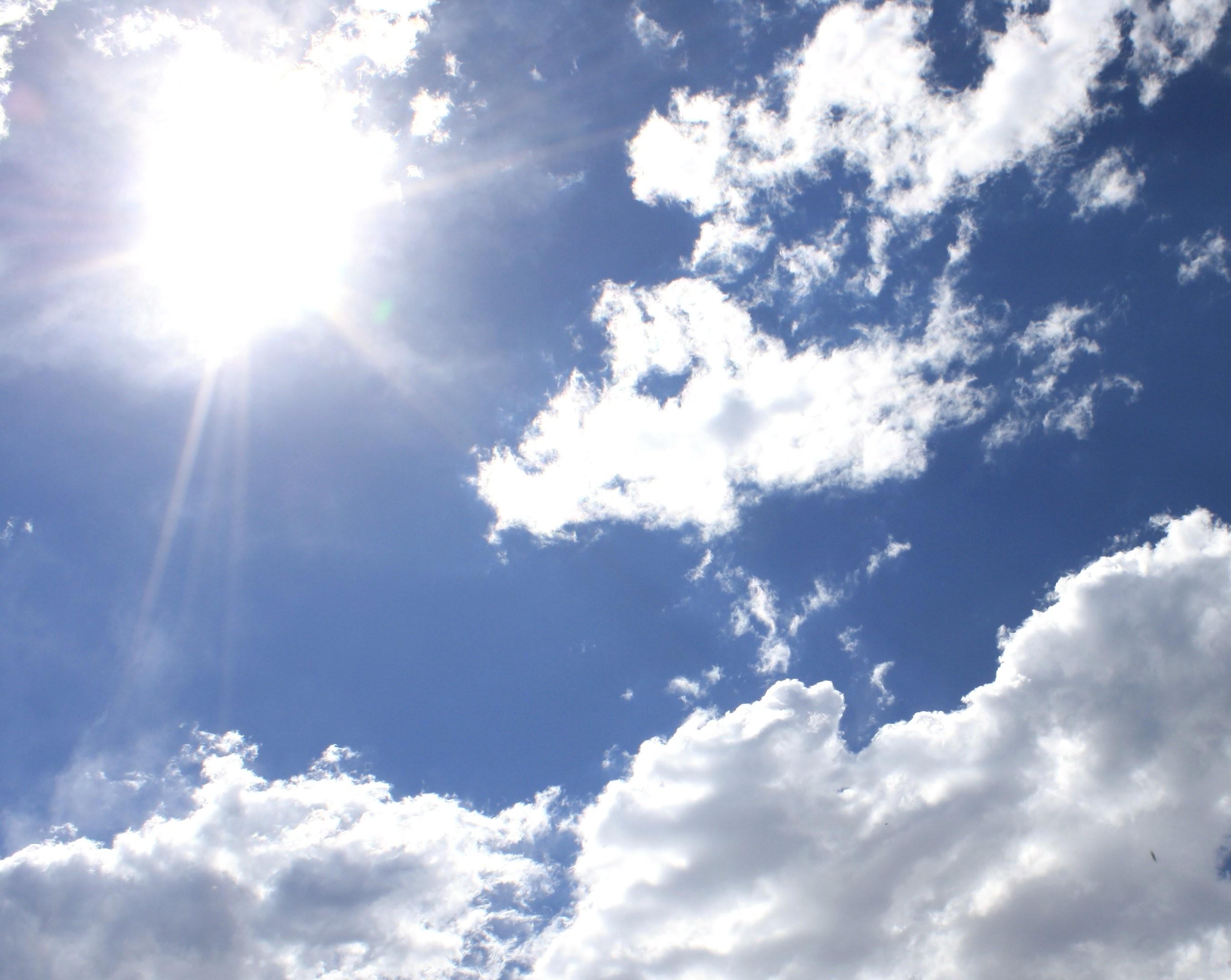 Sky With Sun Texture · Blue Sky with Sun Clouds …