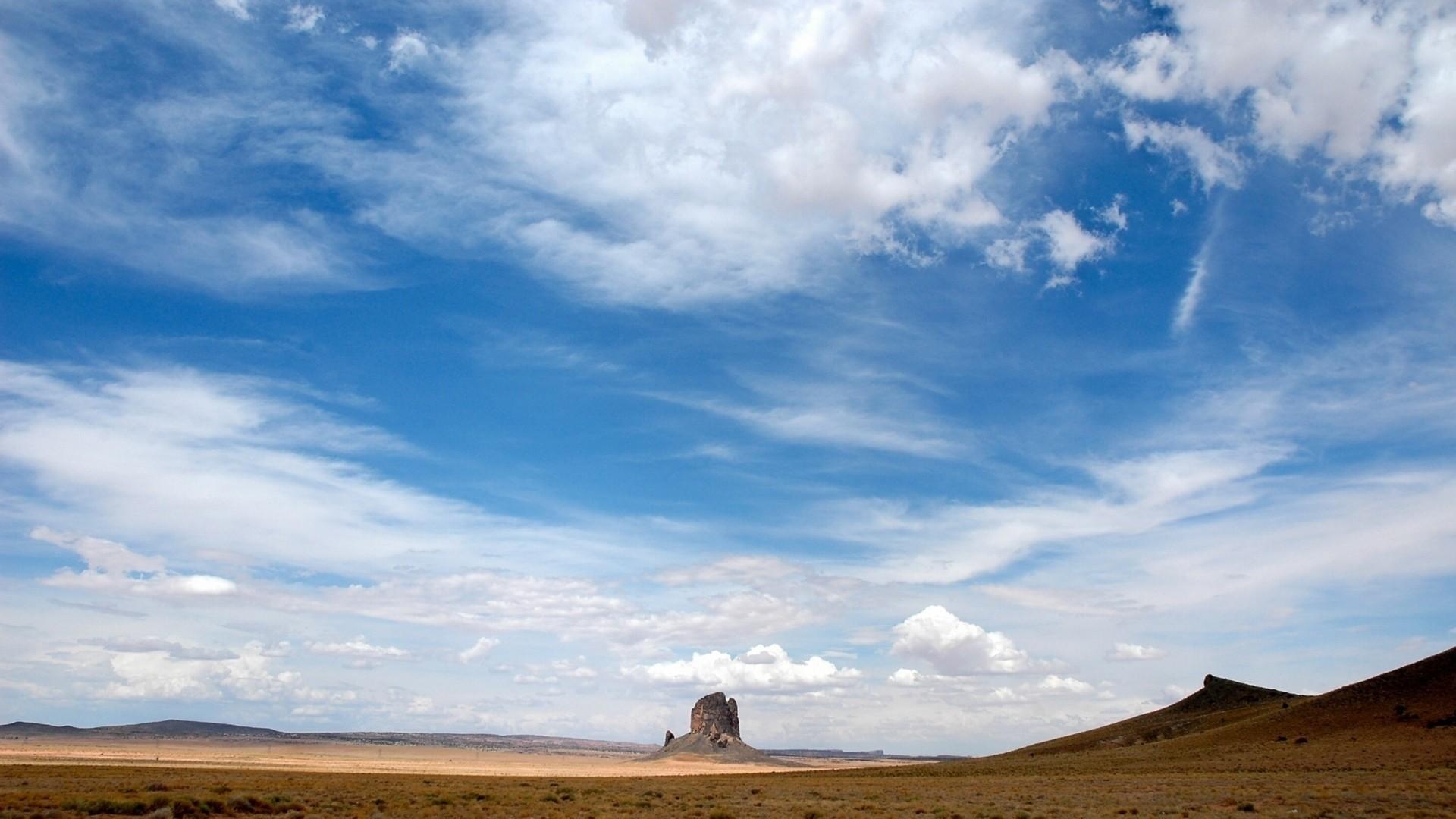 Wallpaper sky, clouds, blue, easy, air, desert, canyon,