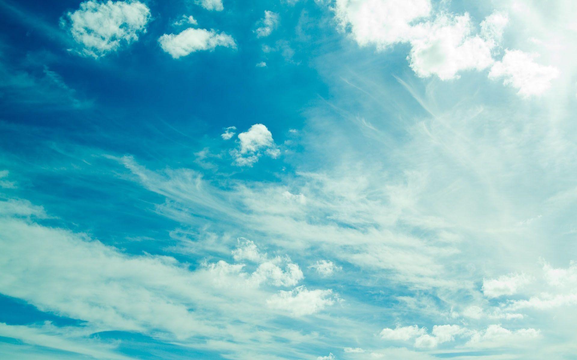 Blue Sky With Cloud Wallpaper High Resolution #3849 Wallpaper .