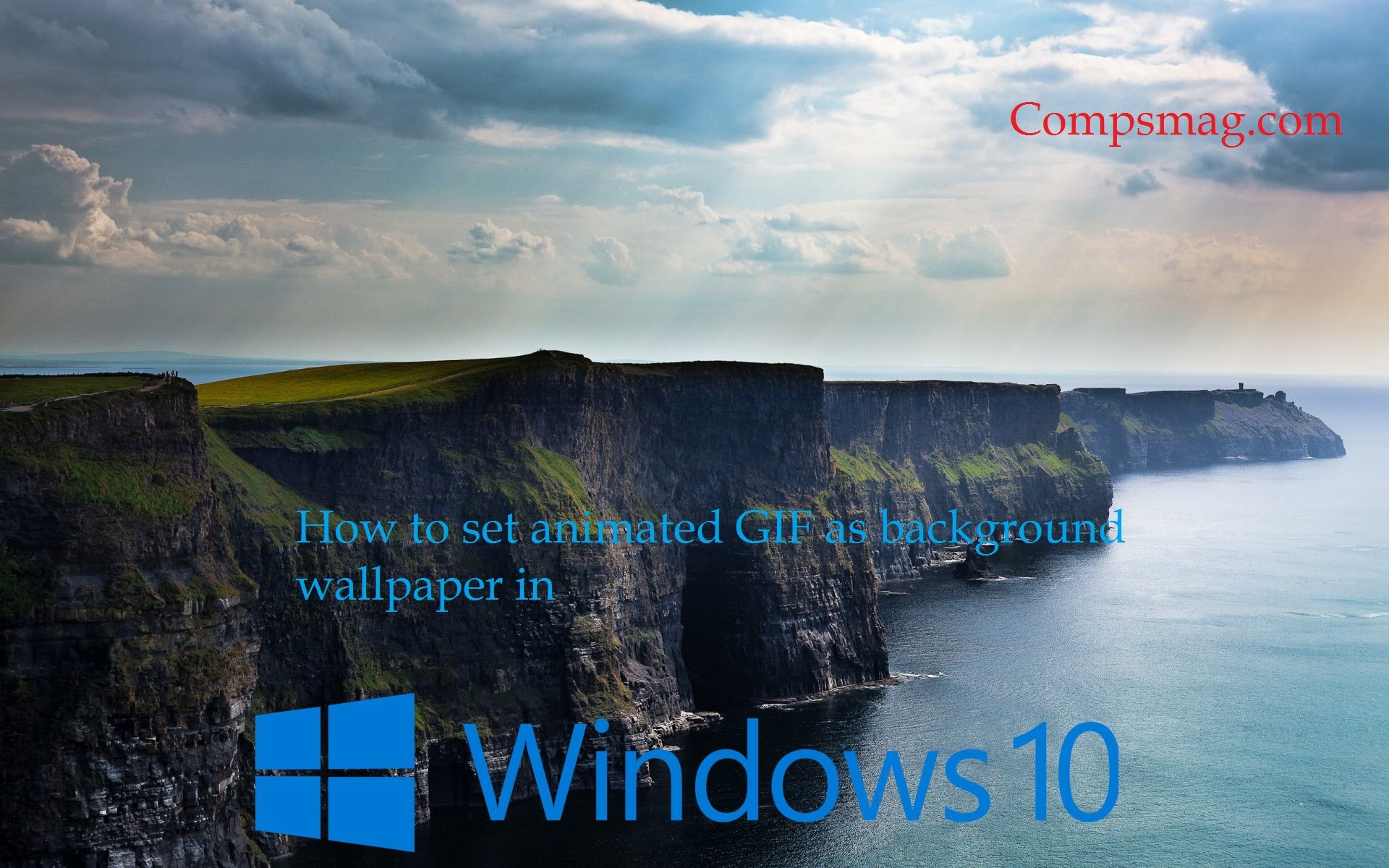 How to set animated GIF as background wallpaper in Windows 10 set animated  gif as background