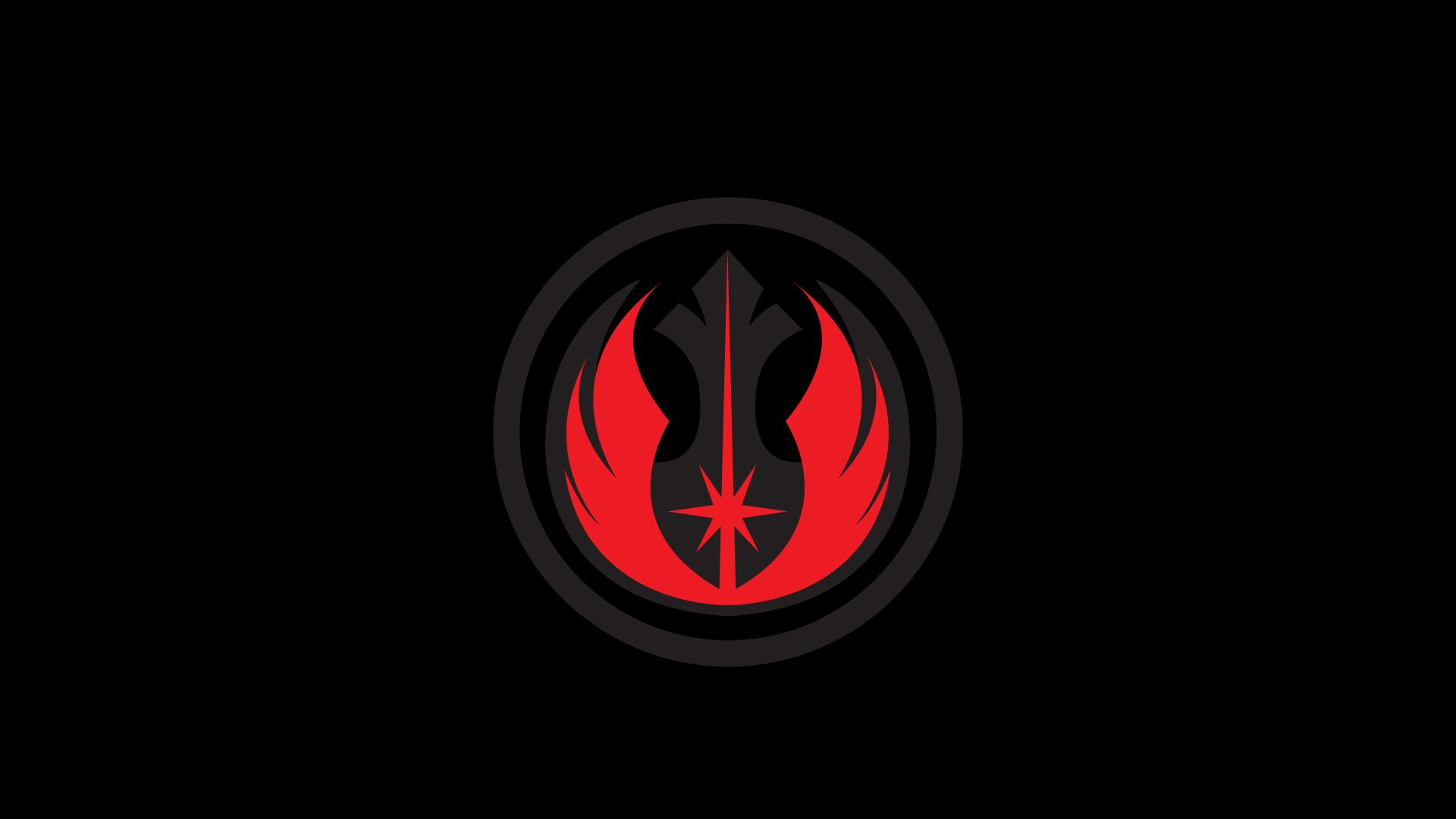 Wallpaper of my friends favourite Star Wars logos.