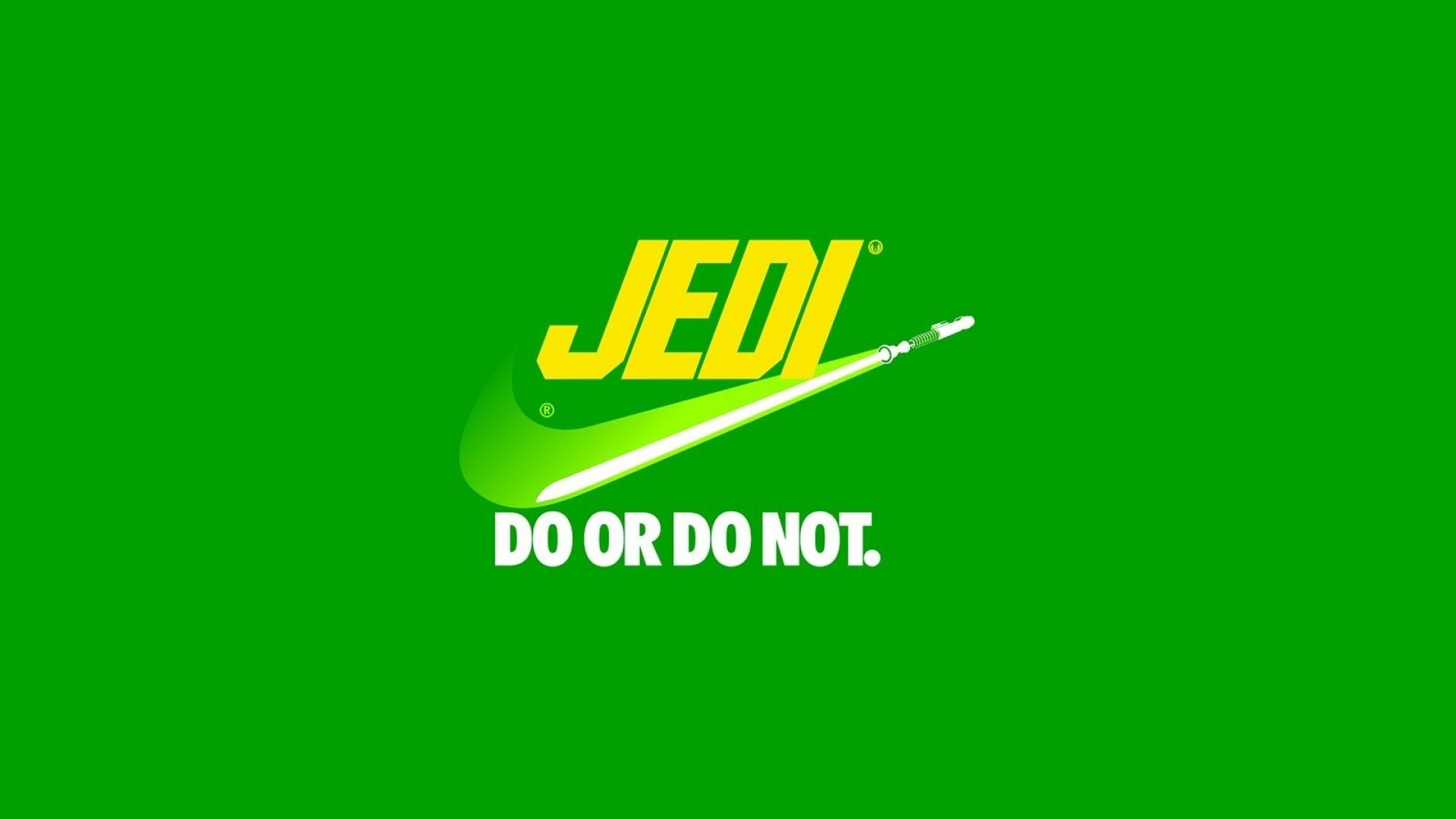 Star wars minimalistic front jedi parody nike logos wallpaper   (893)