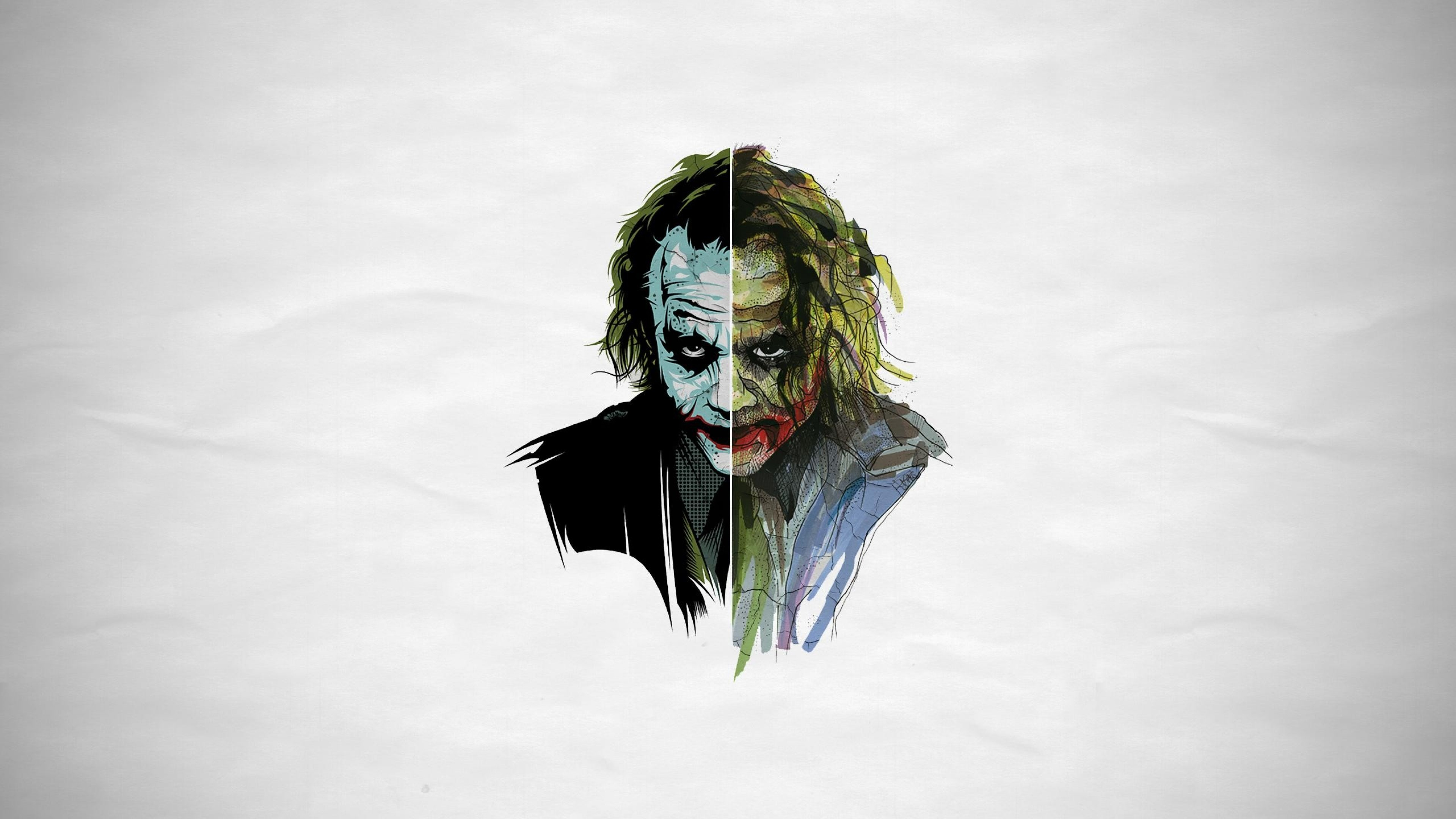 Preview wallpaper joker, art, face 3840×2160