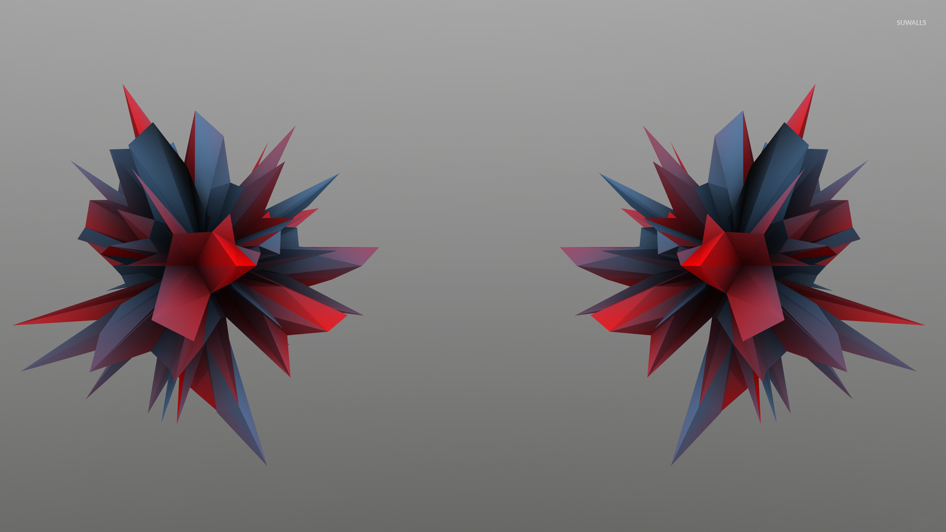 Red and blue thorns wallpaper jpg