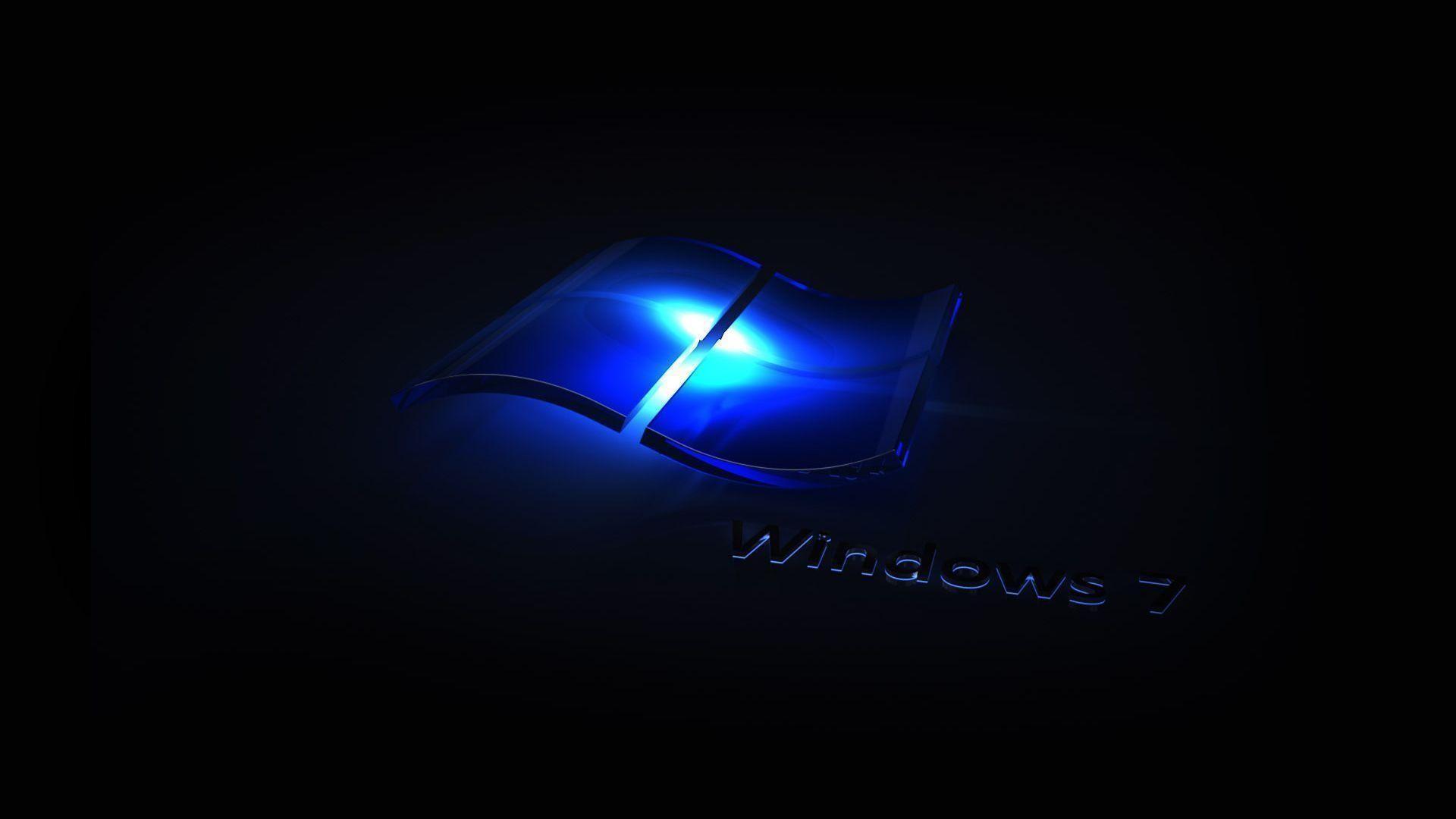 Desktop Wallpaper · Gallery · Windows 7 · Blue Light Windows 7 .