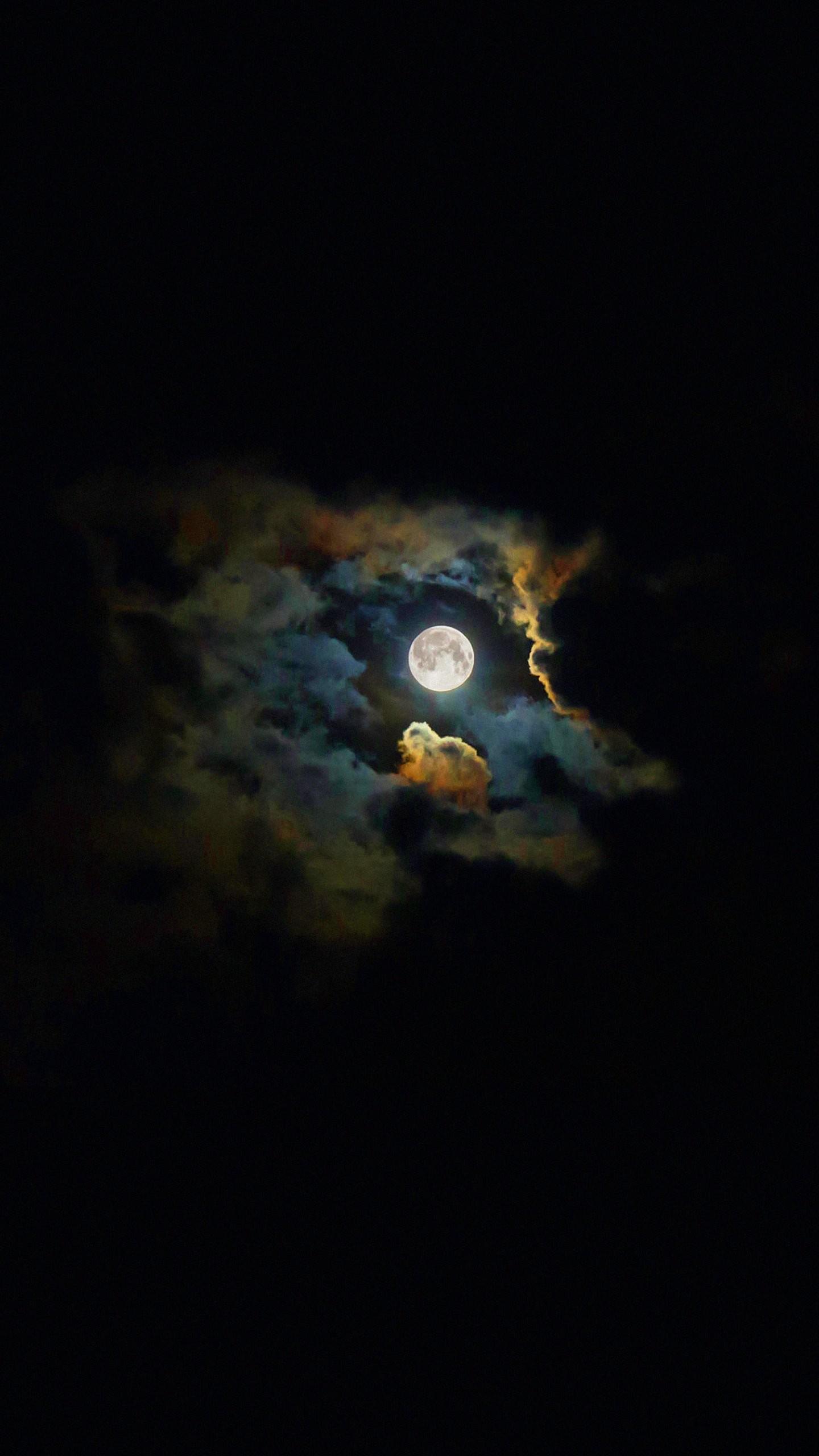 Landscape moon shiny black | wallpaper.sc SmartPhone