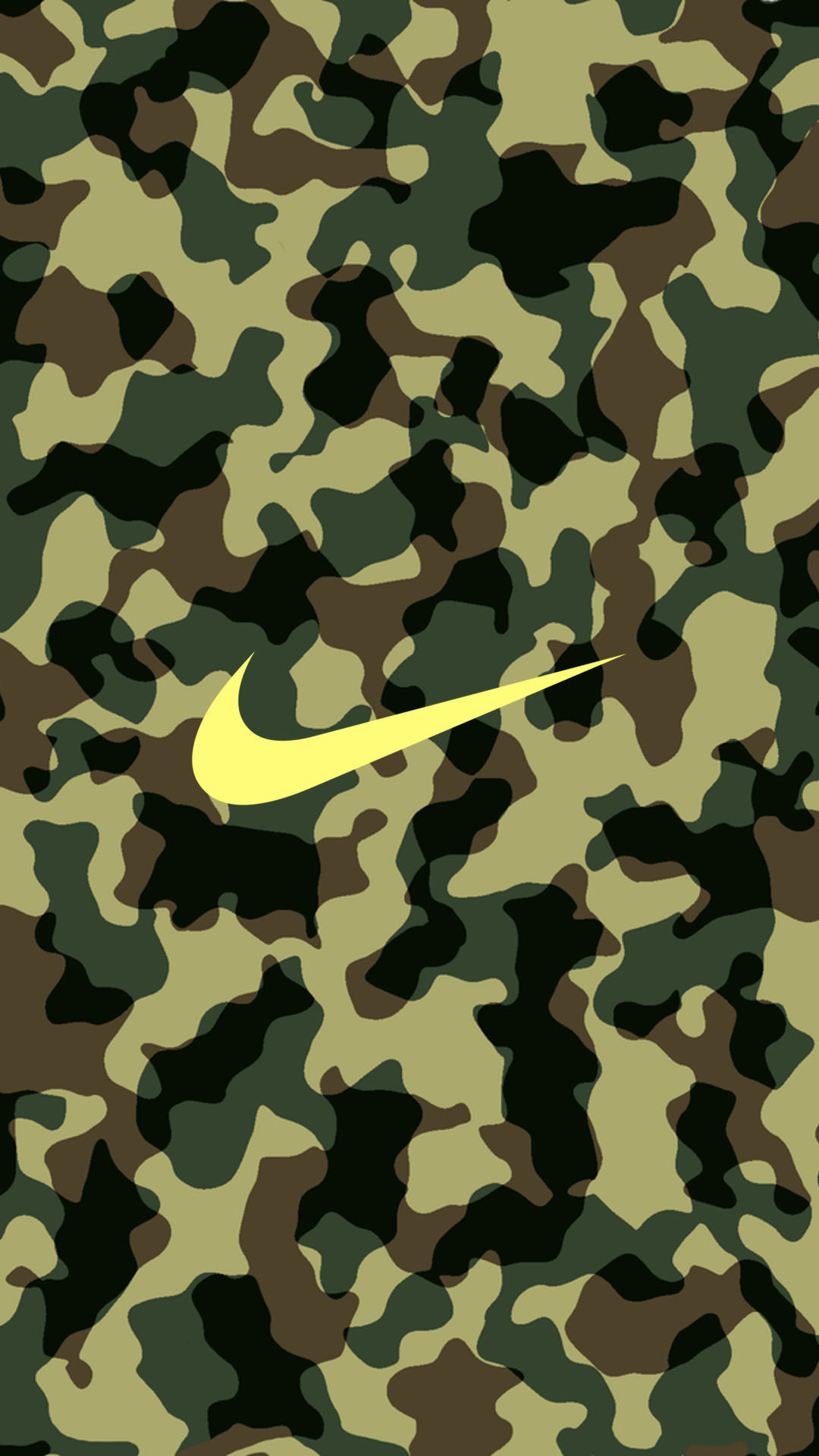 NIKE Logo Camouflage iPhone Wallpaper
