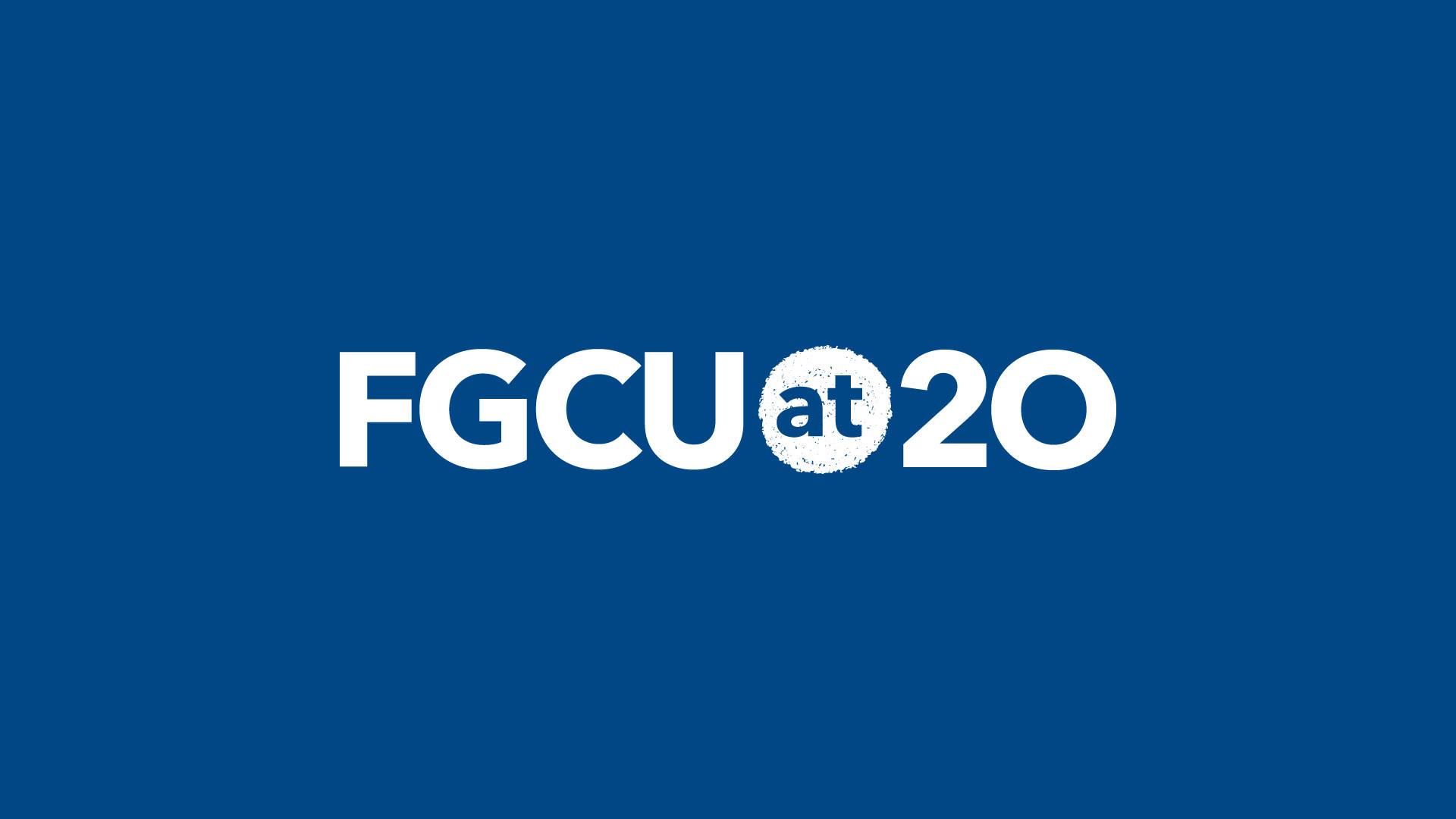 FGCU at 20 Logo Background