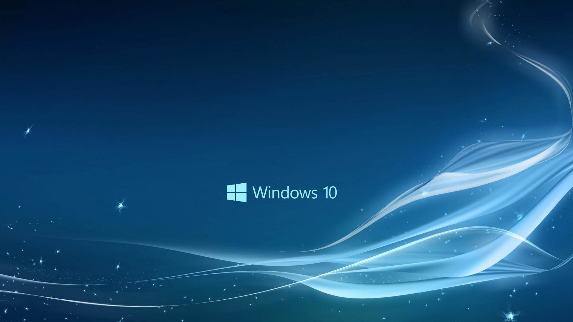 Windows 10 Wallpaper in Blue Abstract Stars and Waves   HD Wallpapers .