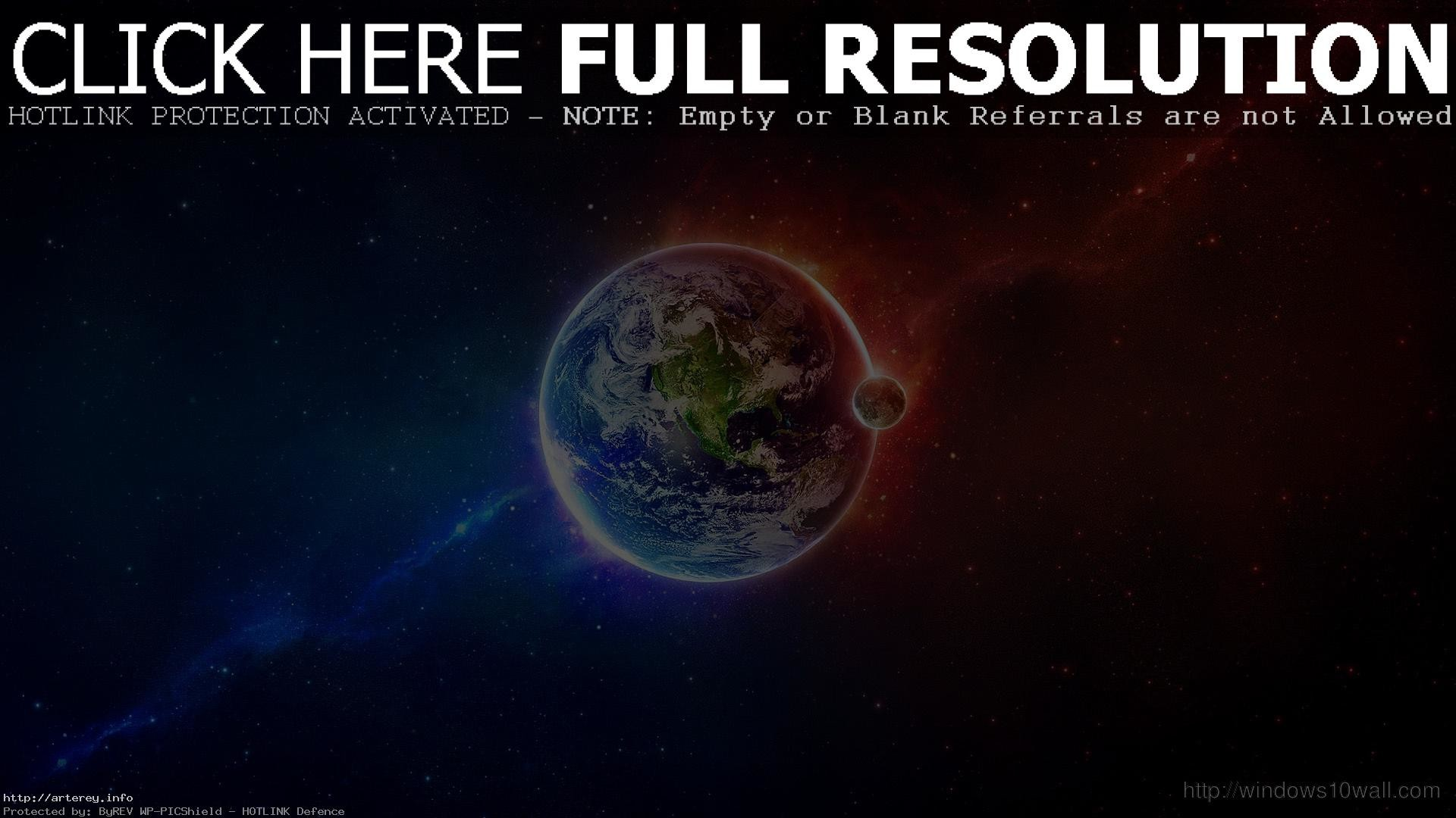 Awesome Outer Space Earth Moon Red Blue HD Wallpaper – Windows 10 For One  Direction Games
