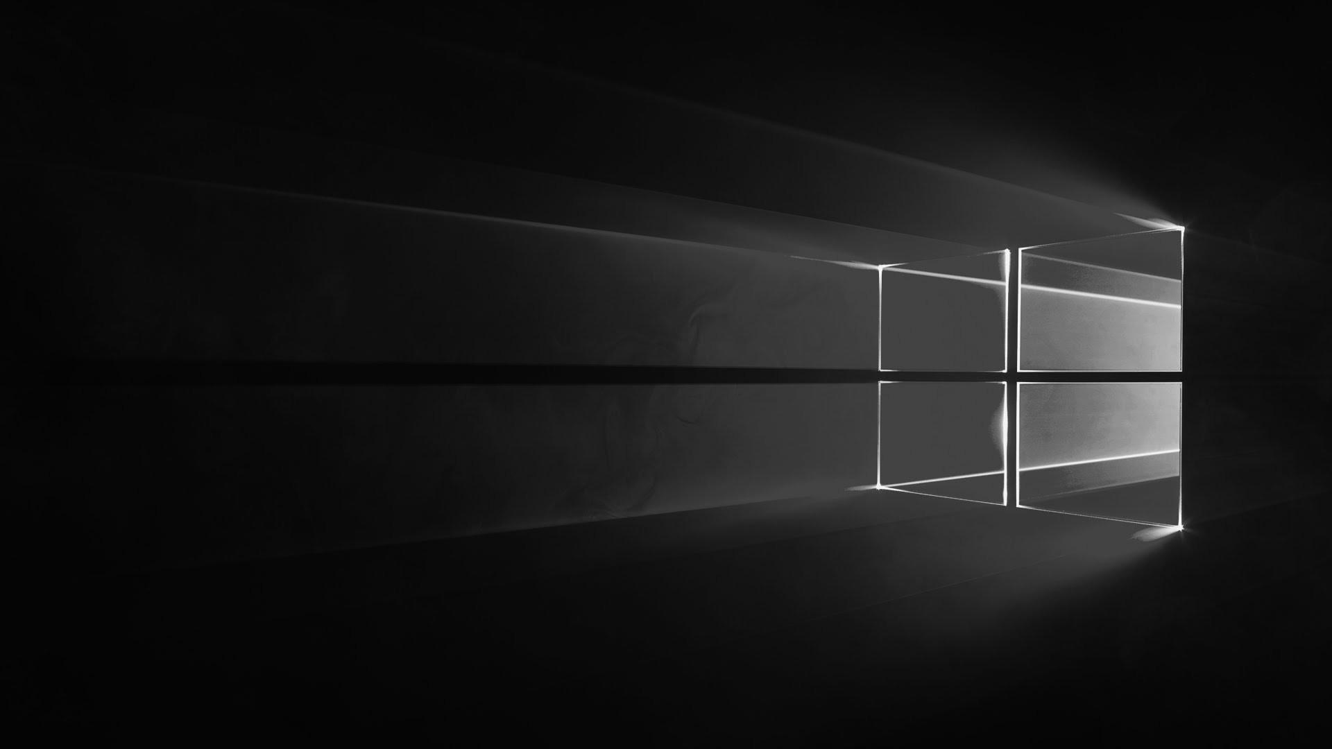 windows 10 black hd wallpaper
