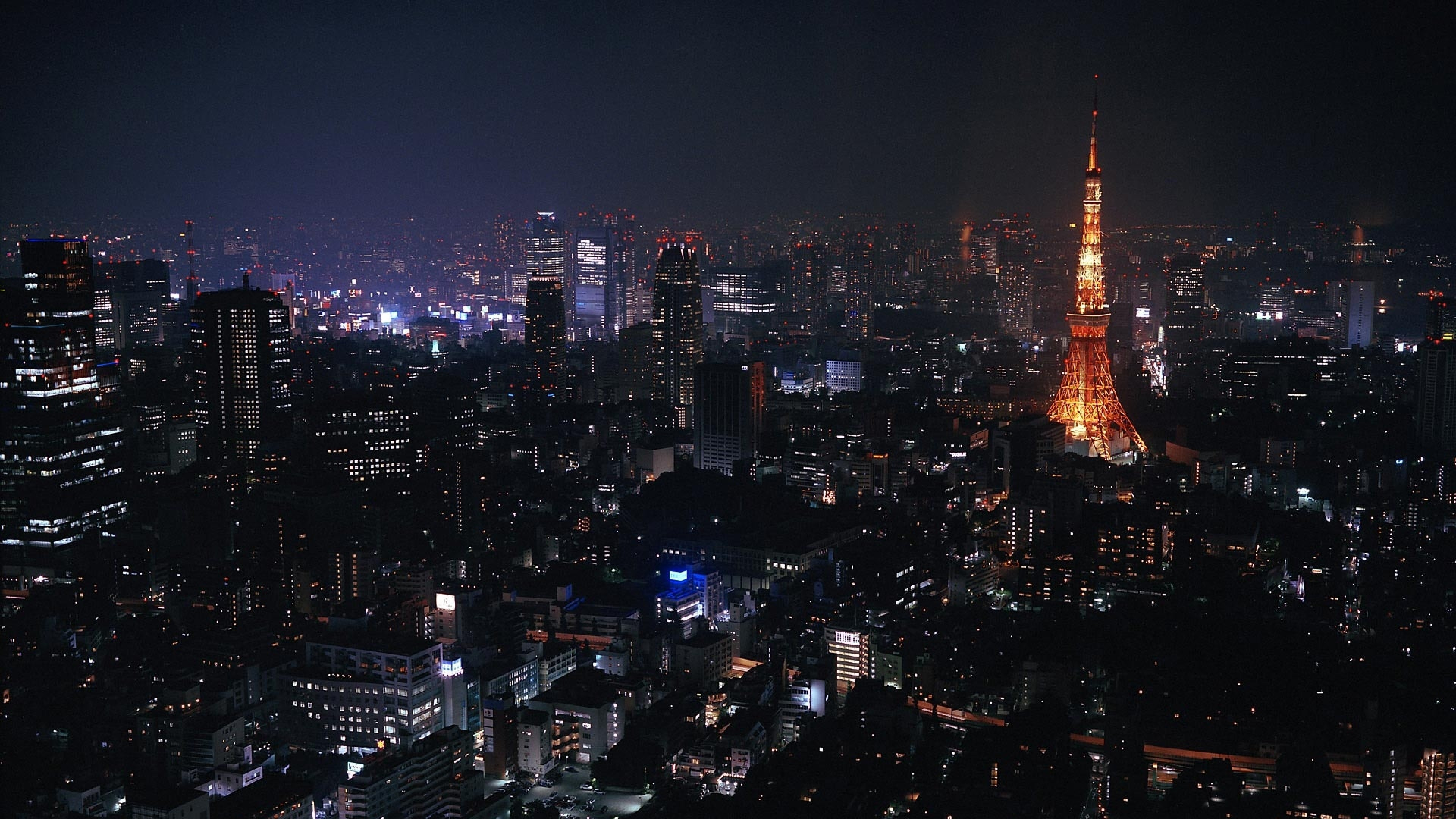 Preview wallpaper tokyo, japan, city, night, lights 3840×2160