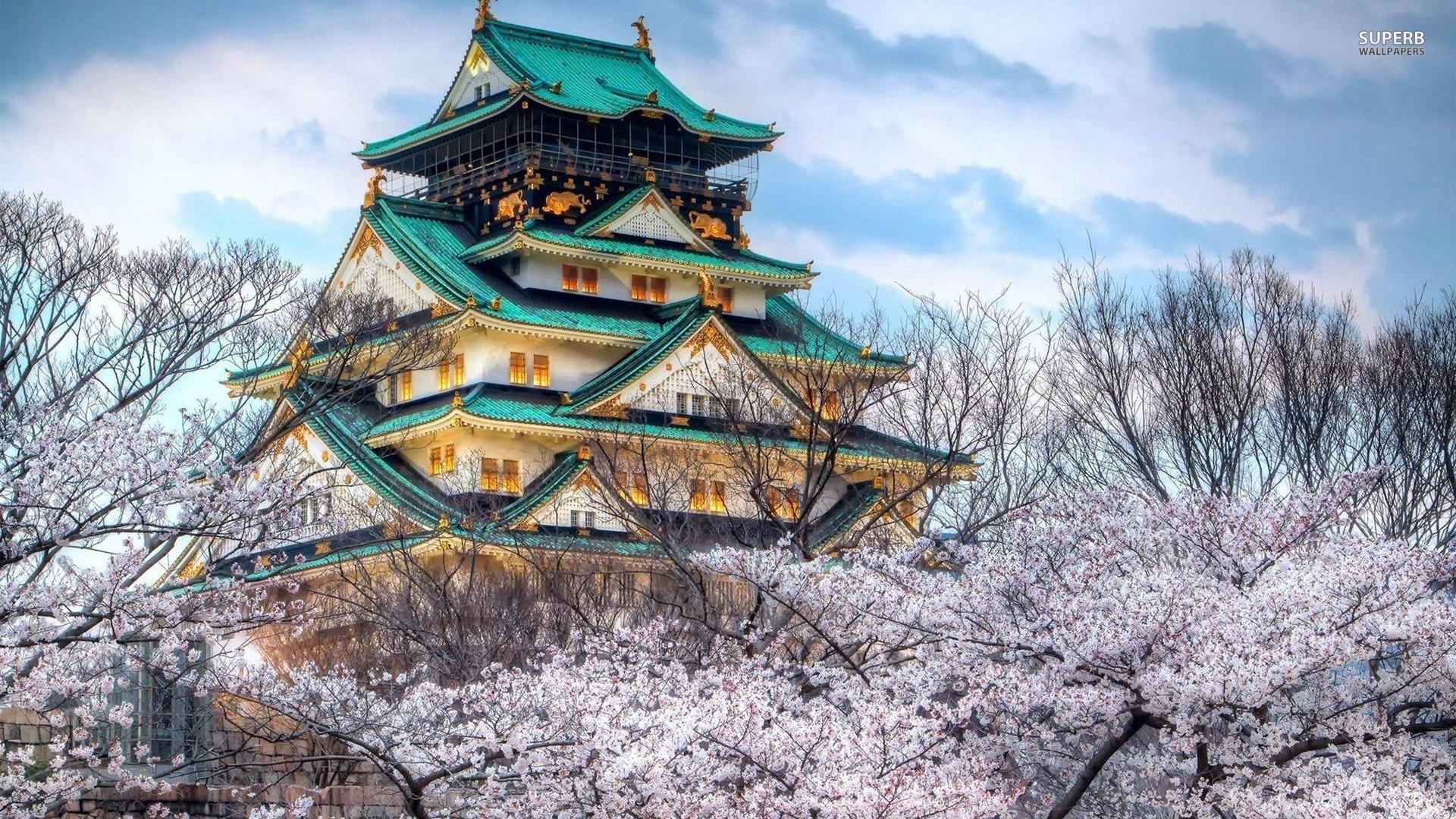 Osaka Castle, Japan Wallpaper 1920×1080