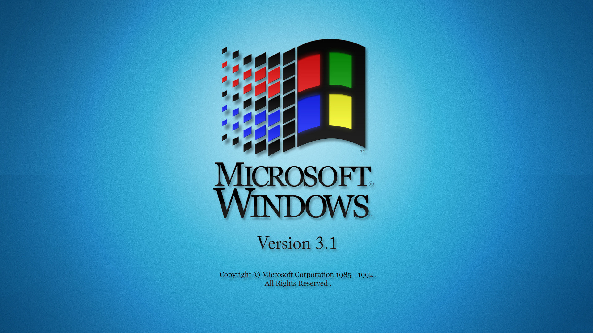 Microsoft Windows Version 3.1 desktop PC and Mac wallpaper