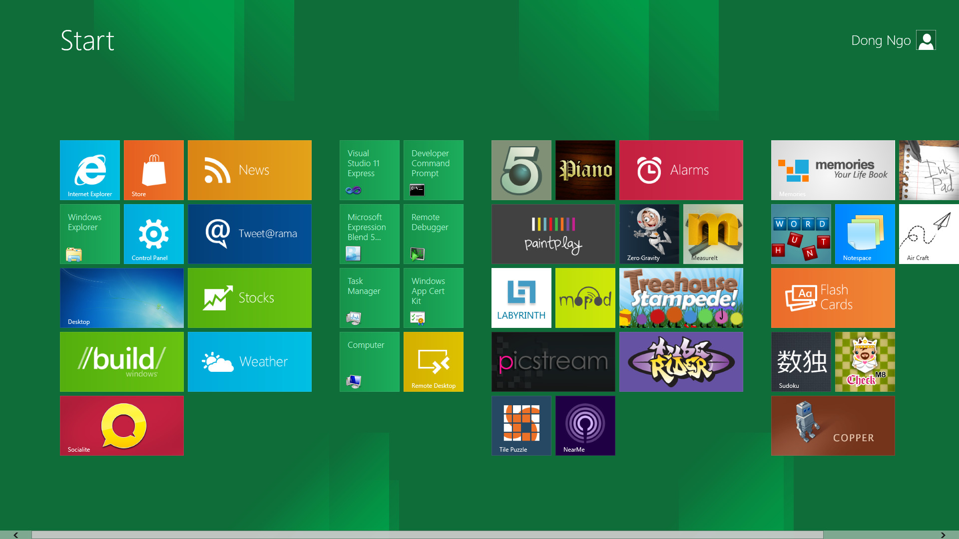 In Windows 8, the Start menu is no longer what it used to be. Dong Ngo/CNET