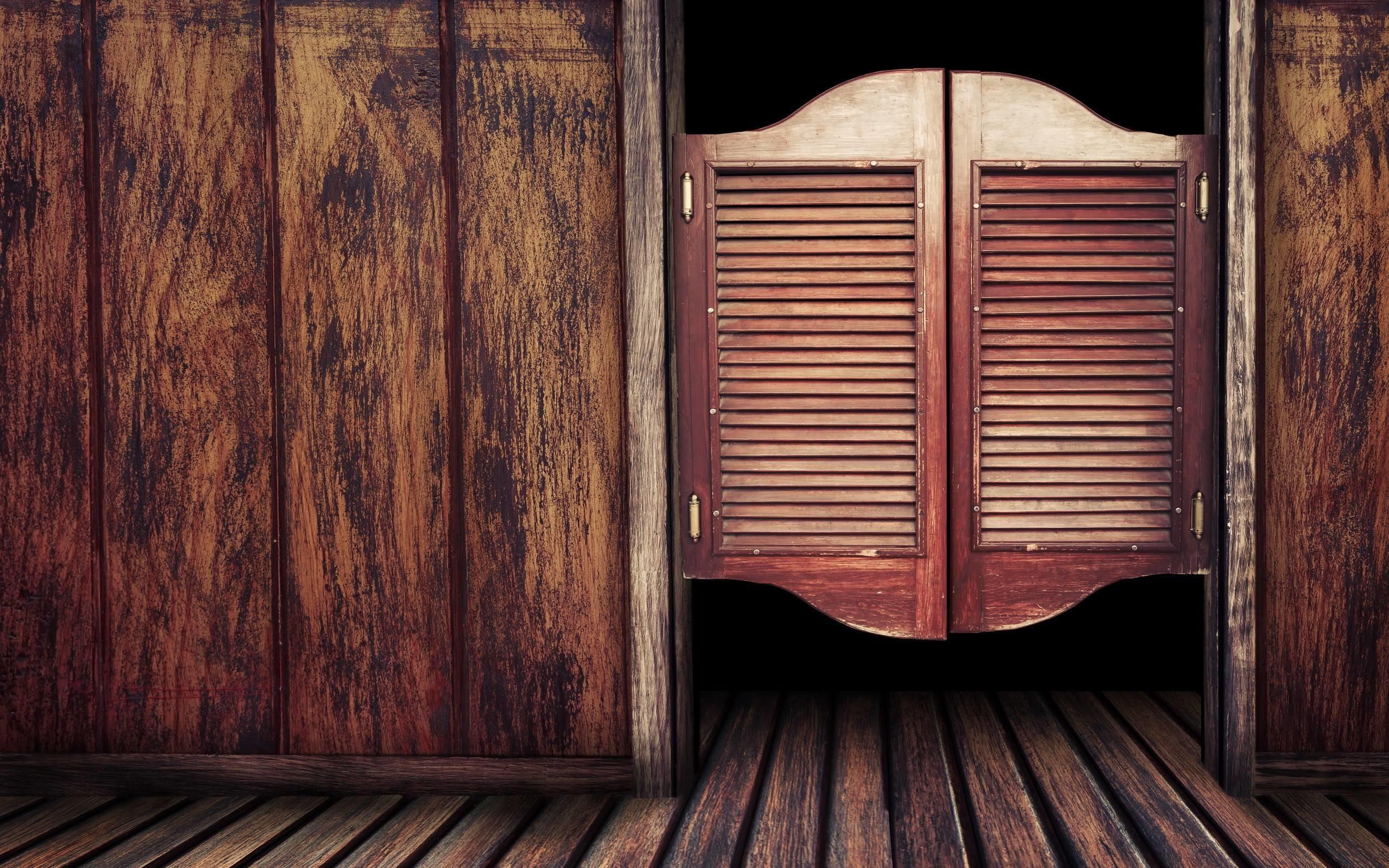 Bar Western Doors Wood HD Wallpaper – ZoomWalls