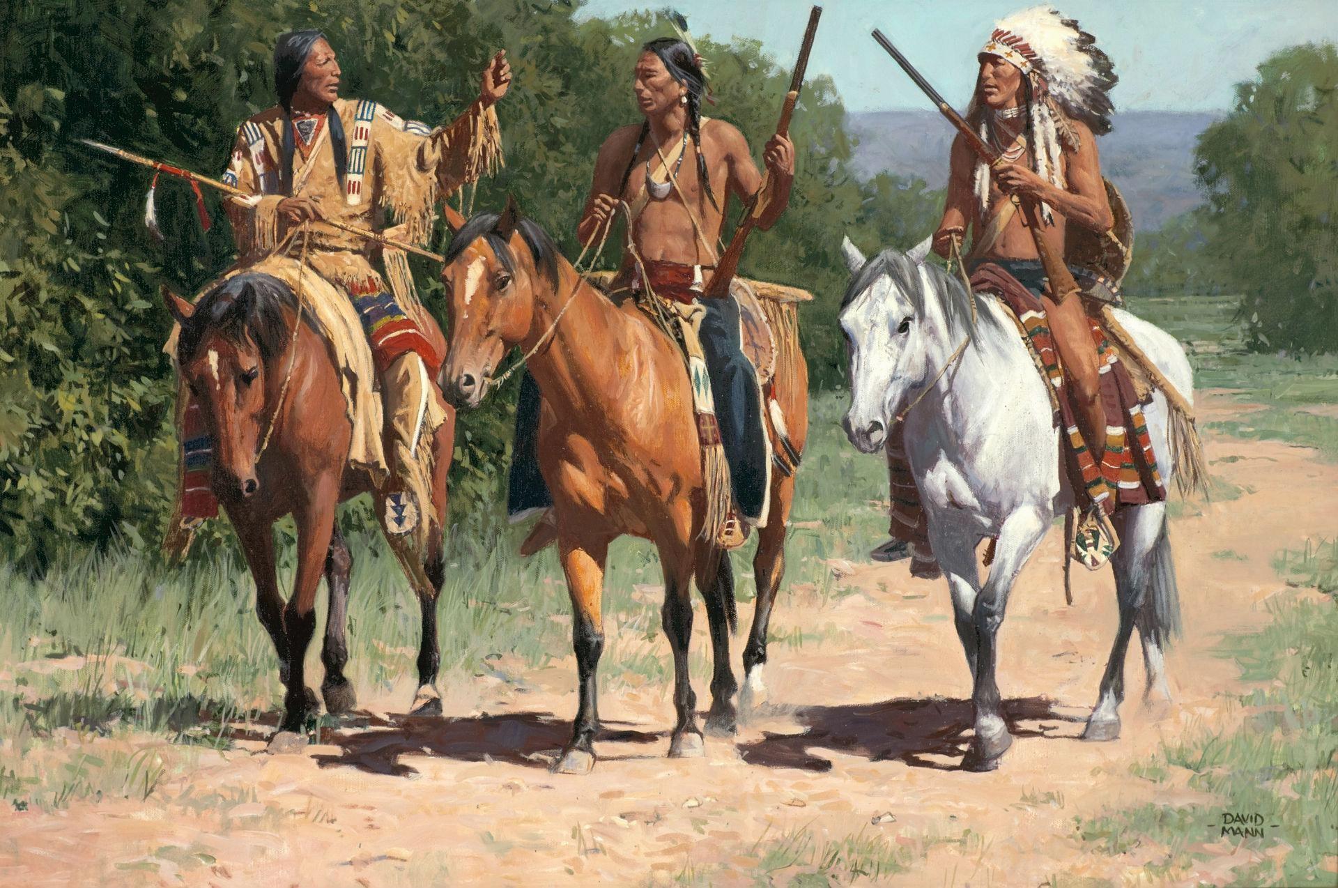 wallpaper.wiki-American-Indian-Horse-Paintings-Art-Western-