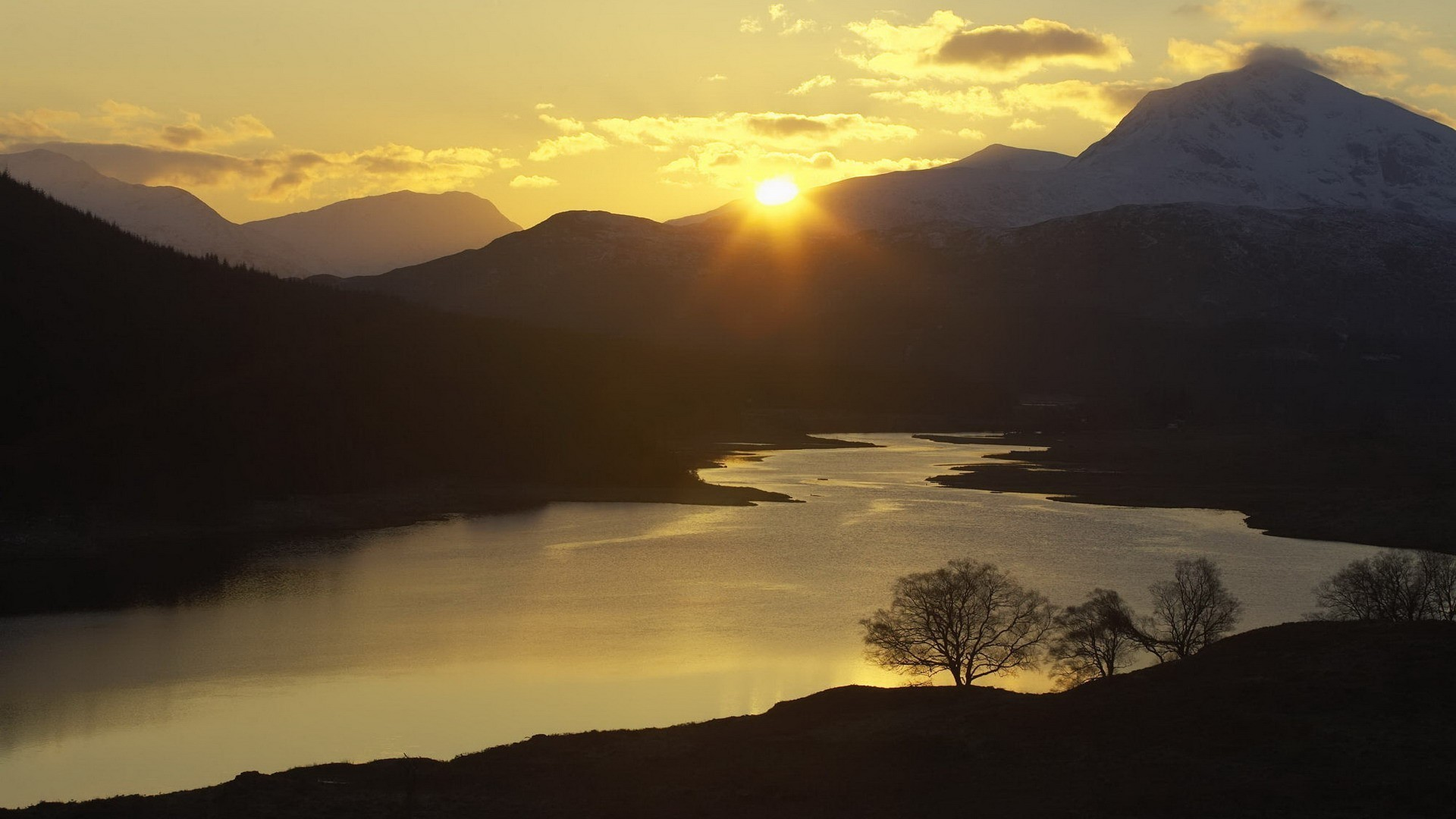 #887766 Color – Scotland Highlands Garry Sunset Western Hd Nature Themes  For Android for HD