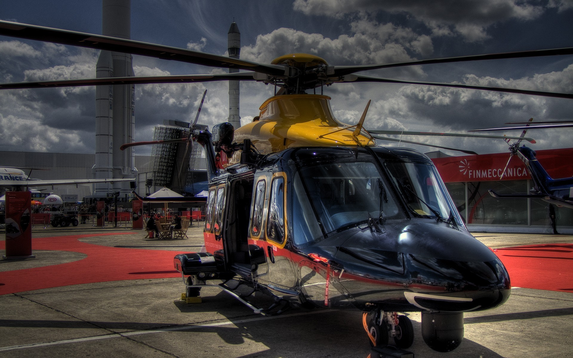 Wallpaper helicopter, HDR, Agusta, AgustaWestland, AW109 .