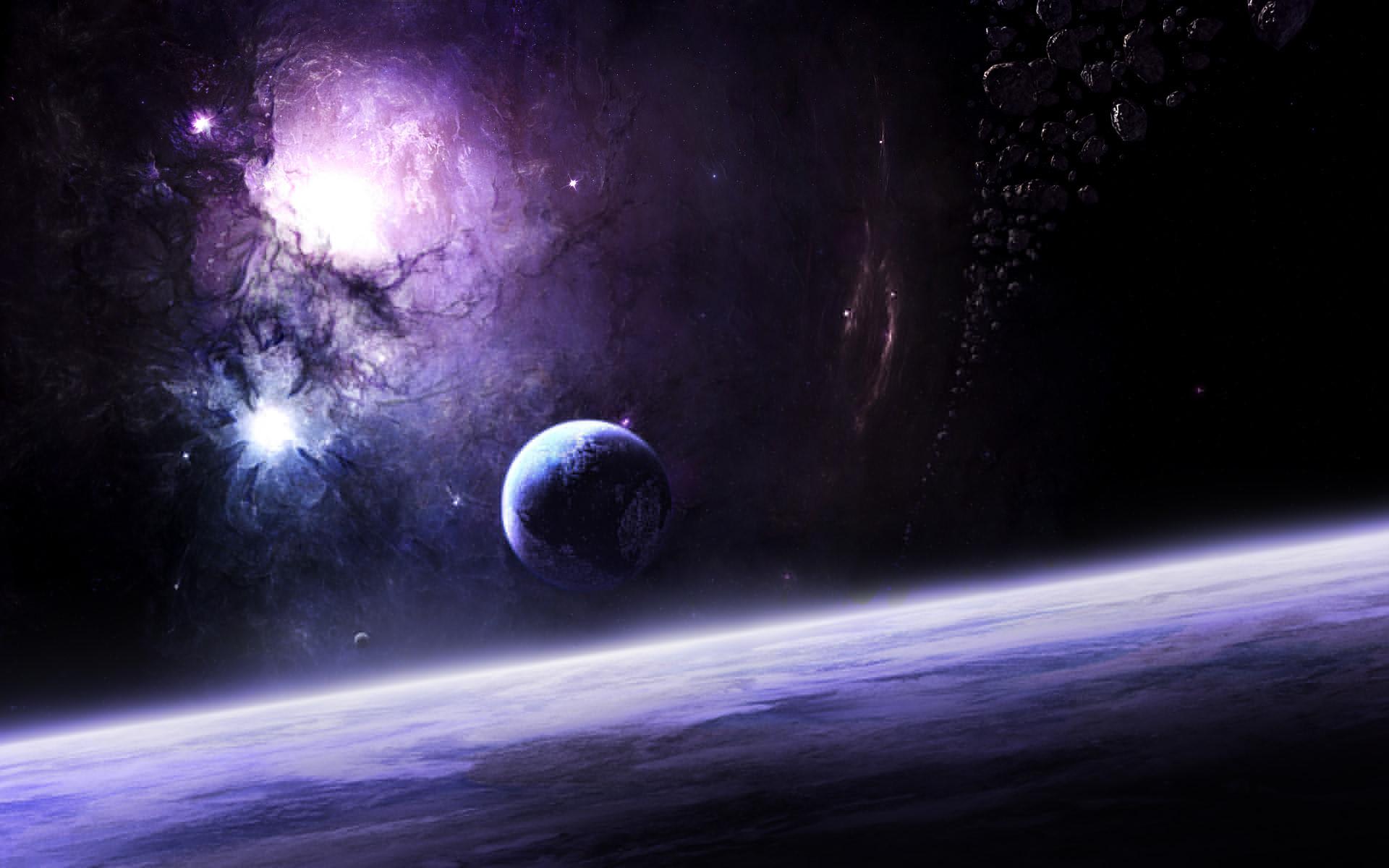 Dark Space Desktop Background