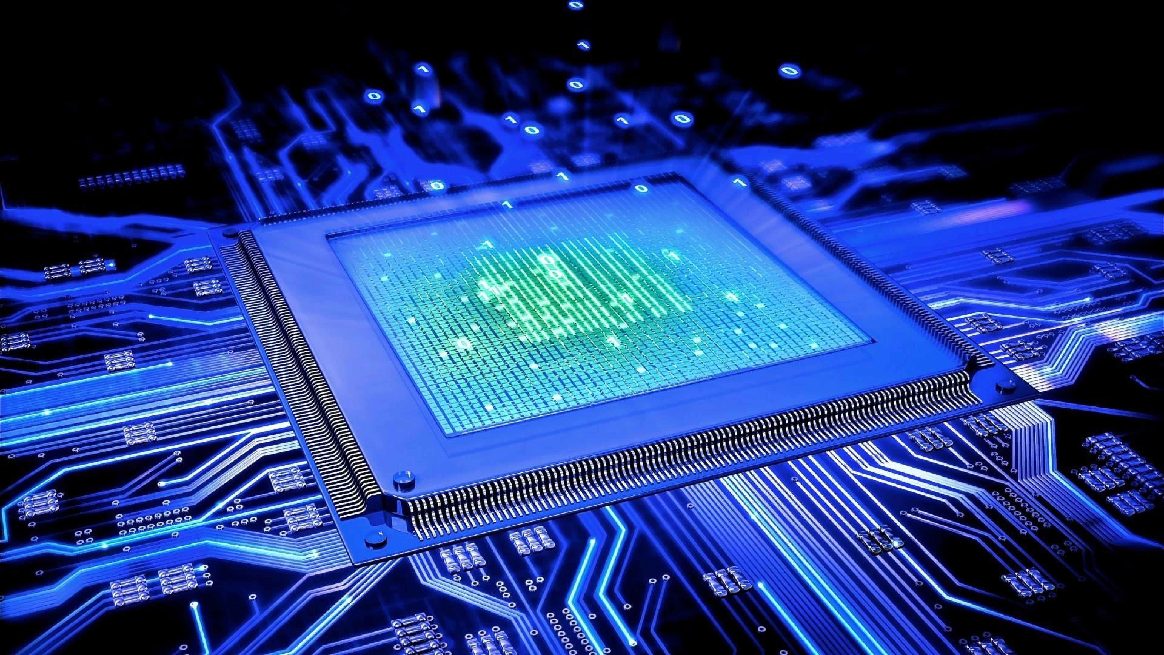Technology Computer Circuit boards Glowing HD Wallpapers, Desktop .