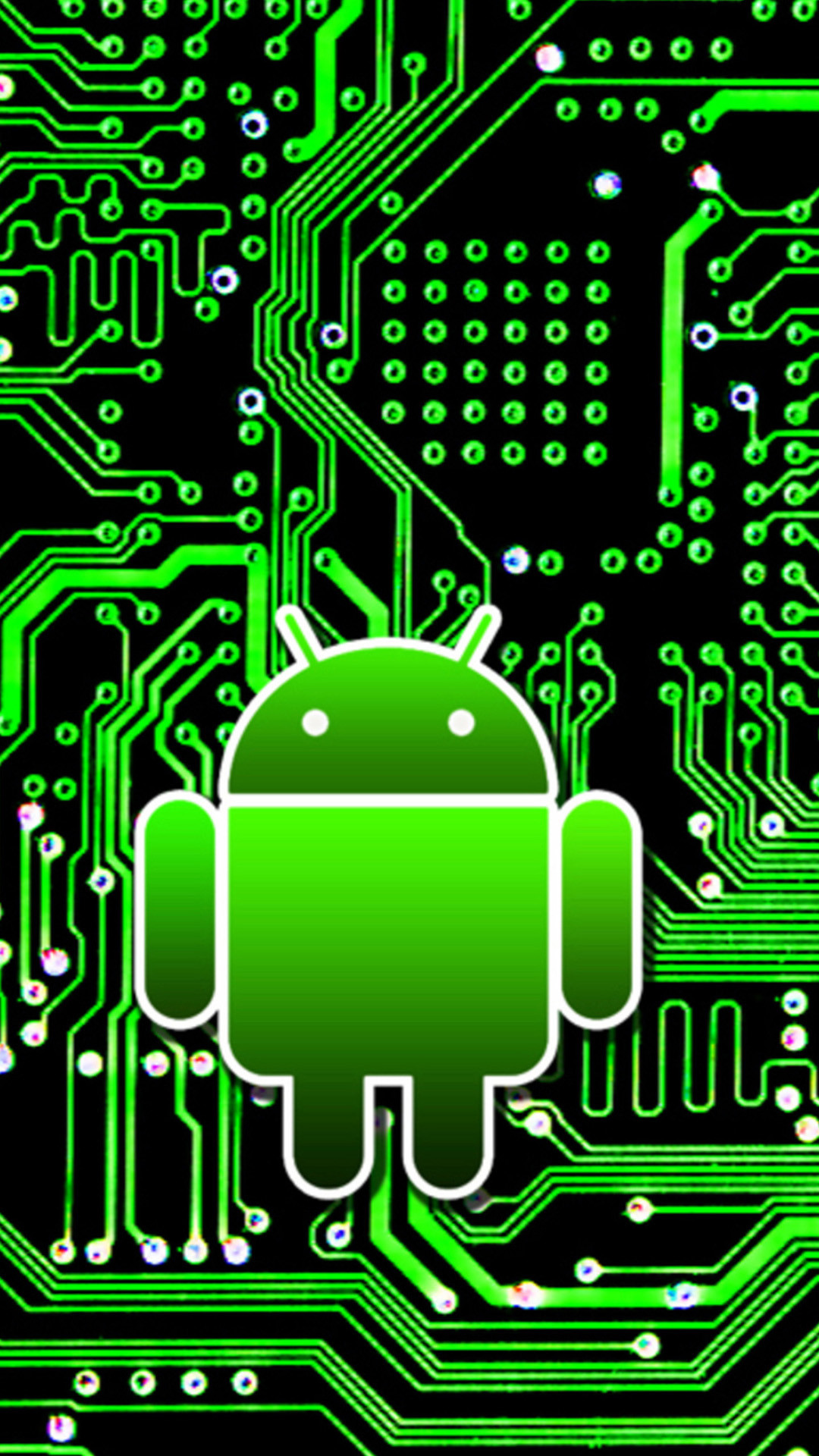Android circuit board 01 Galaxy S5 Wallpapers HD
