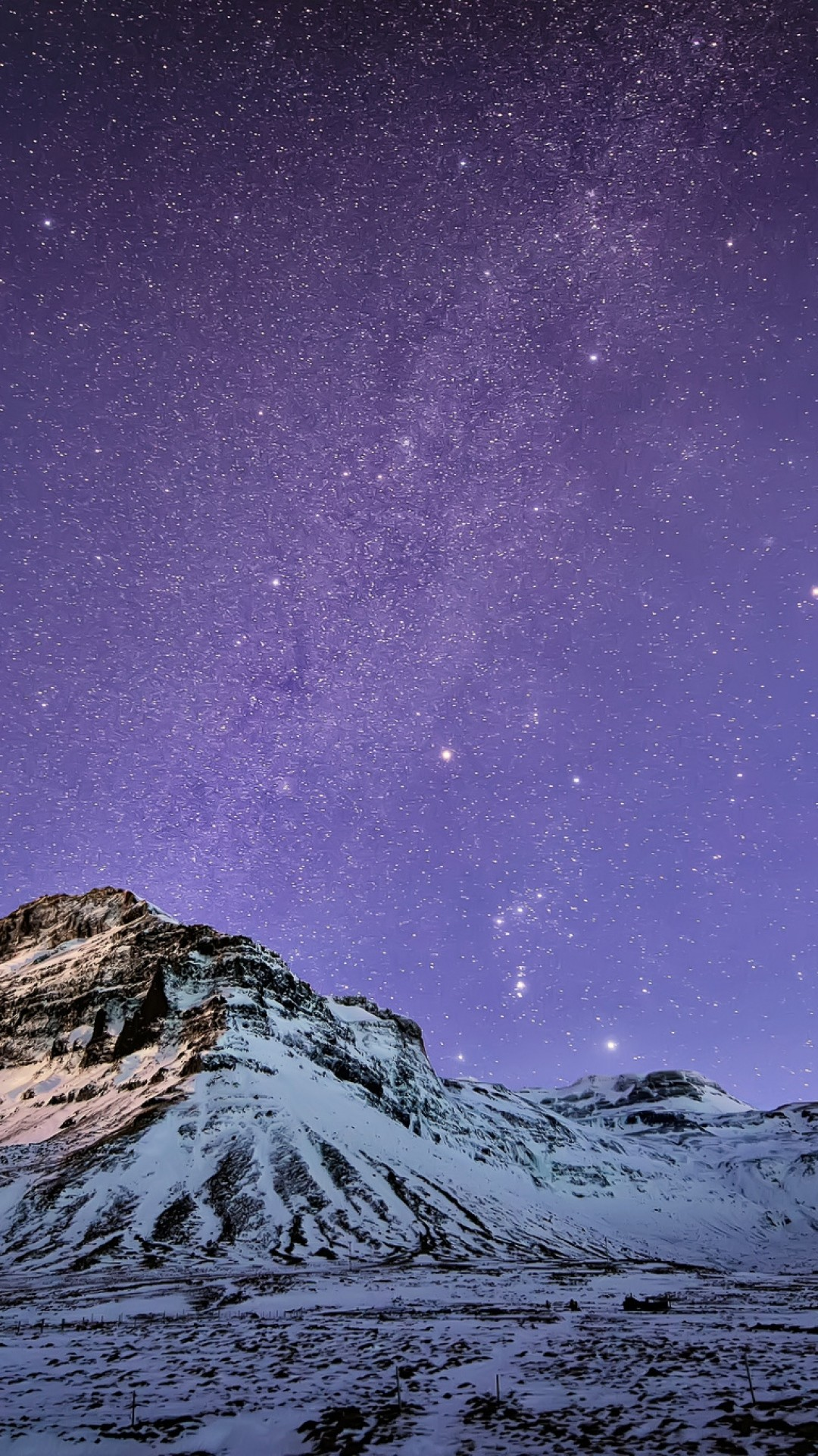 … Snow Mountain Stars Wallpaper iPhone 6 Plus preview