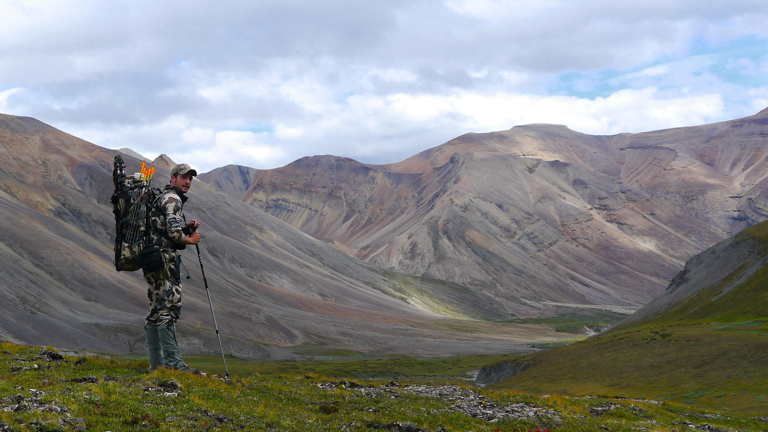PSE's Pedro Ampuero Bowhunting in the Mackenzie Mountains