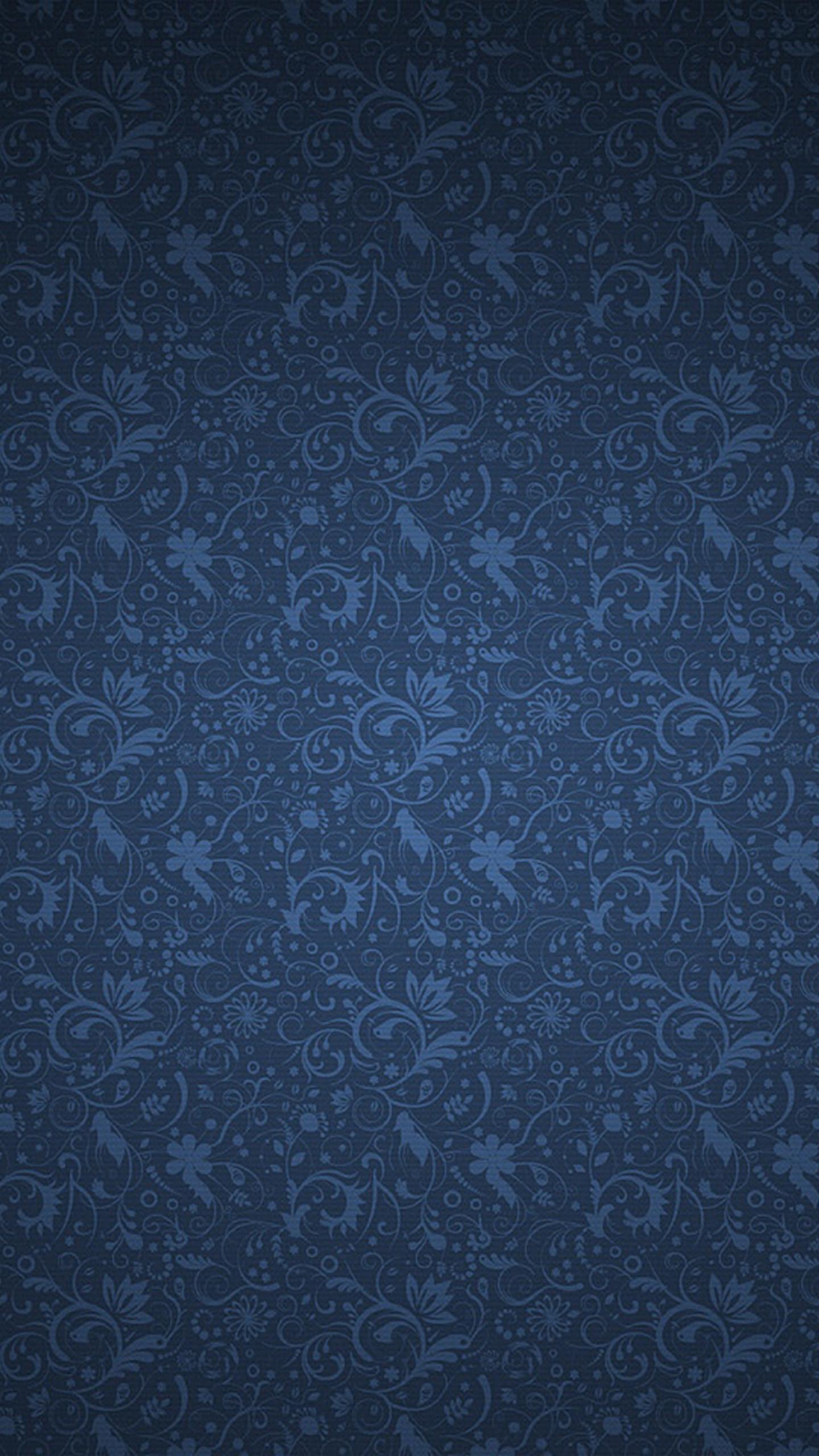 Blue Floral Pattern Wallpaper