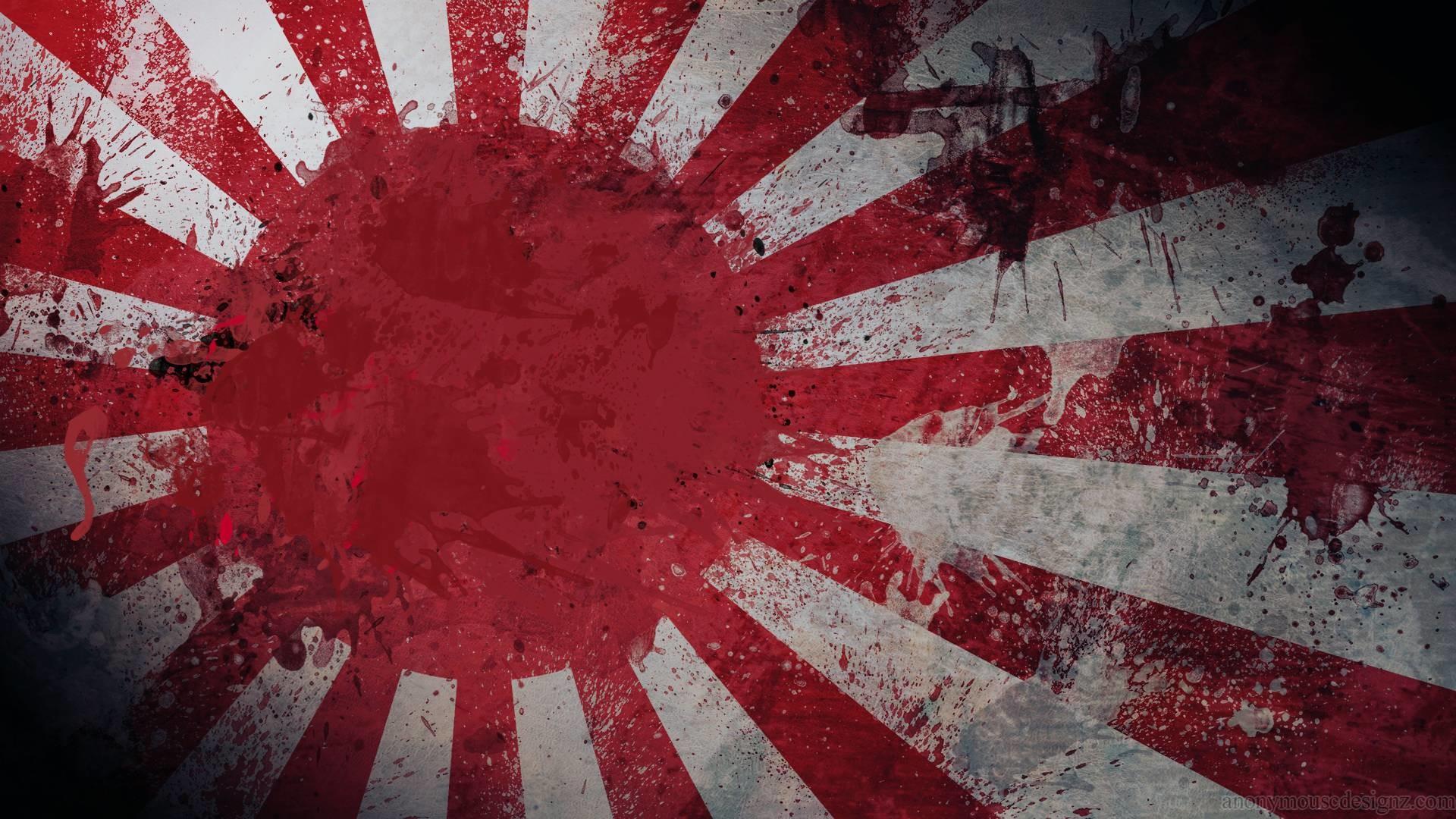 Japanese Art Flag Free HD Wallpaper