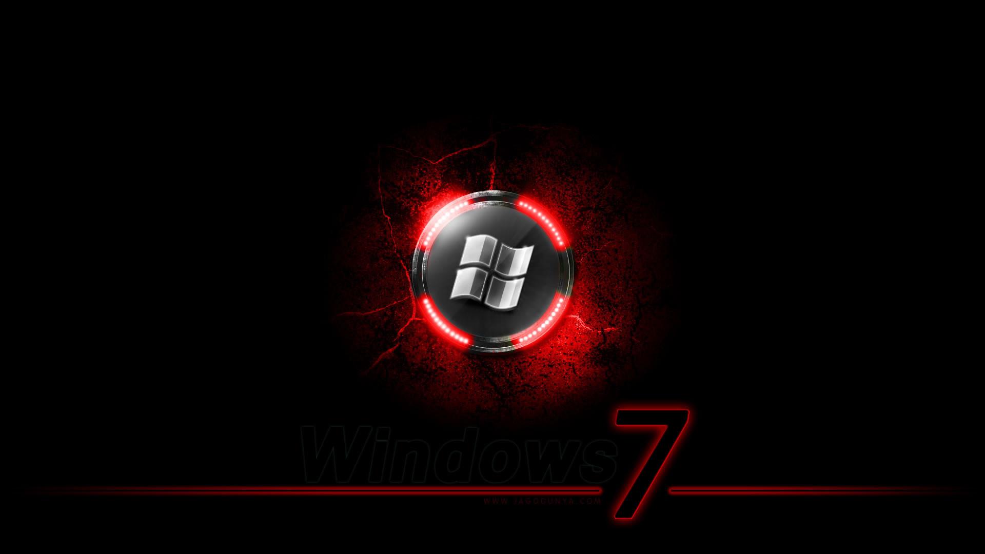 Black Windows 7 Wallpaper HD