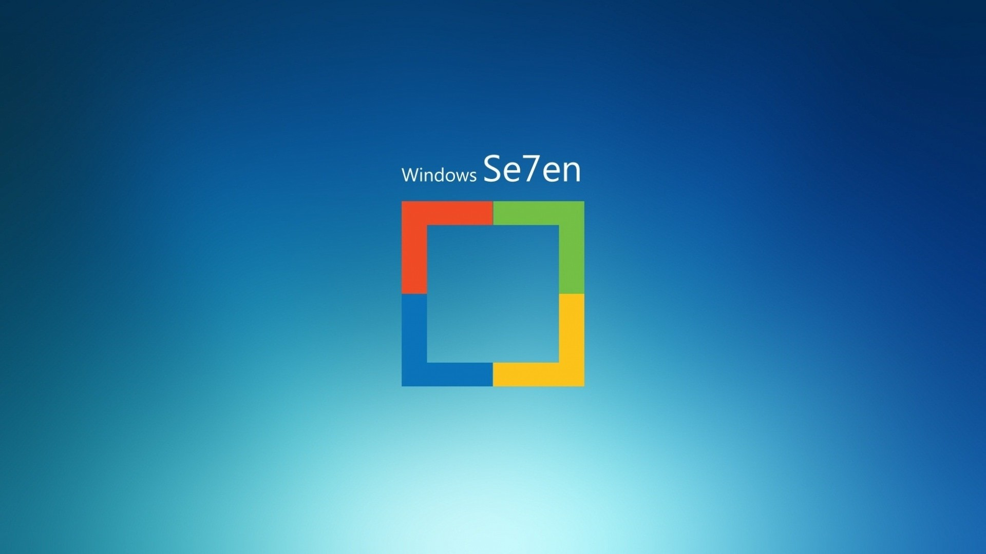 Preview wallpaper windows 7, logo, square, operating system 1920×1080