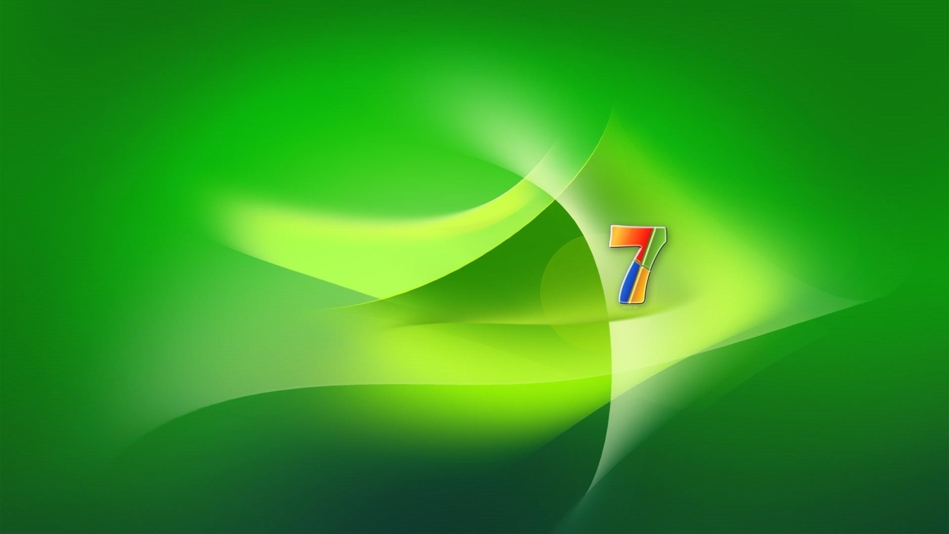 Preview wallpaper windows 7, os, green, yellow 1920×1080
