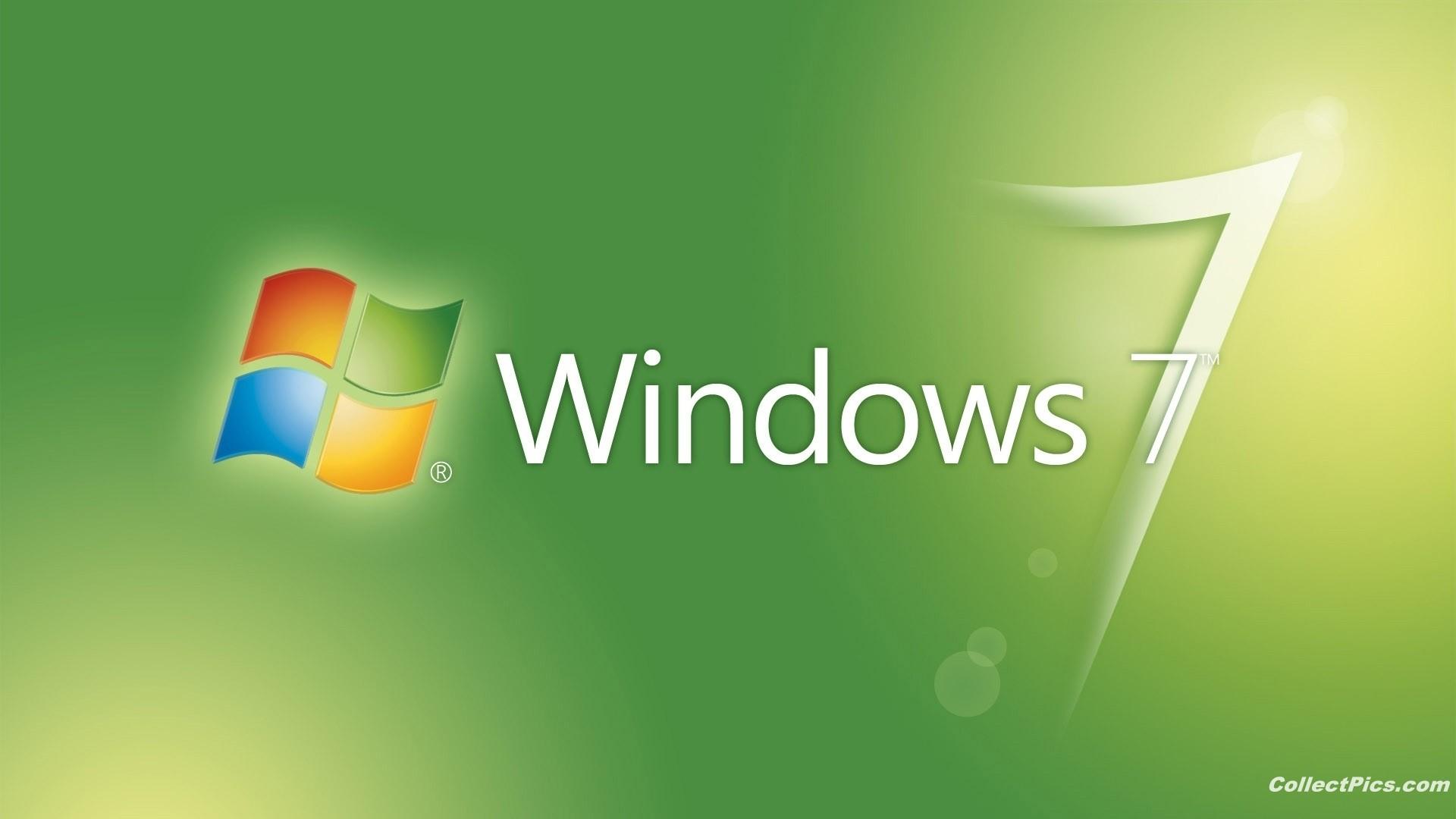 Windows 7 Green 1080p Wallpaper