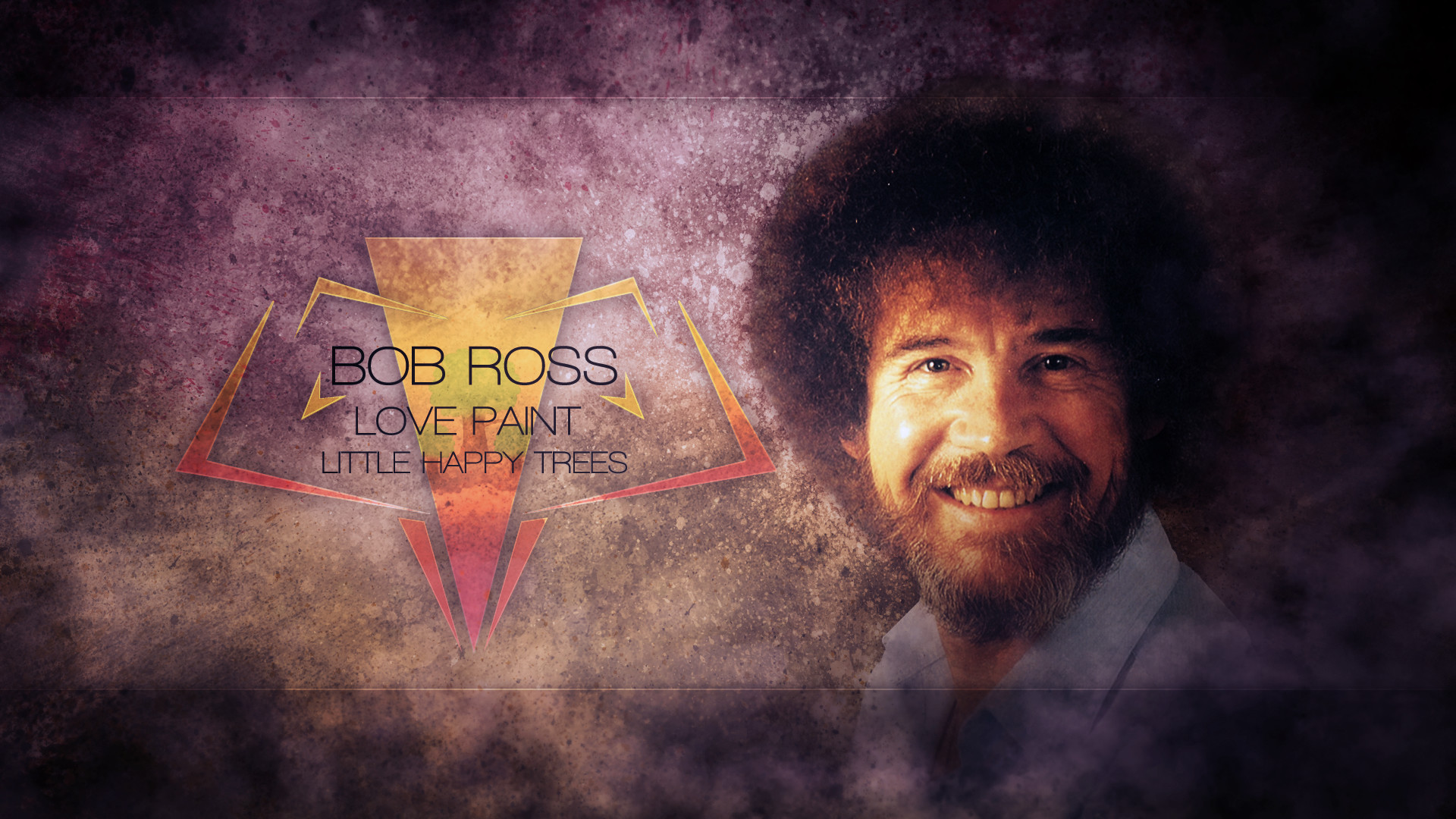 Bob Ross – Happy Little Grunges (Mackaged Collab) by SandwichDelta on .