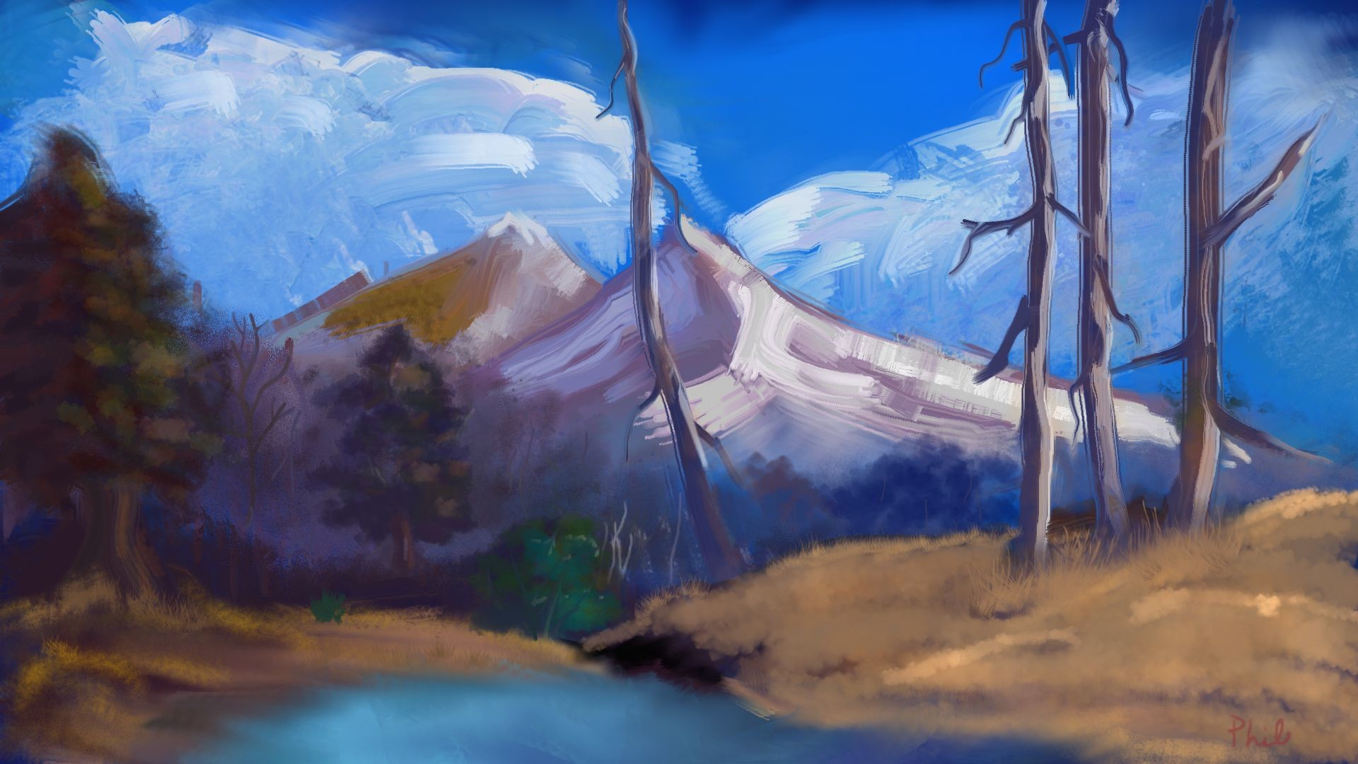 Painting with Bob Ross Finished
