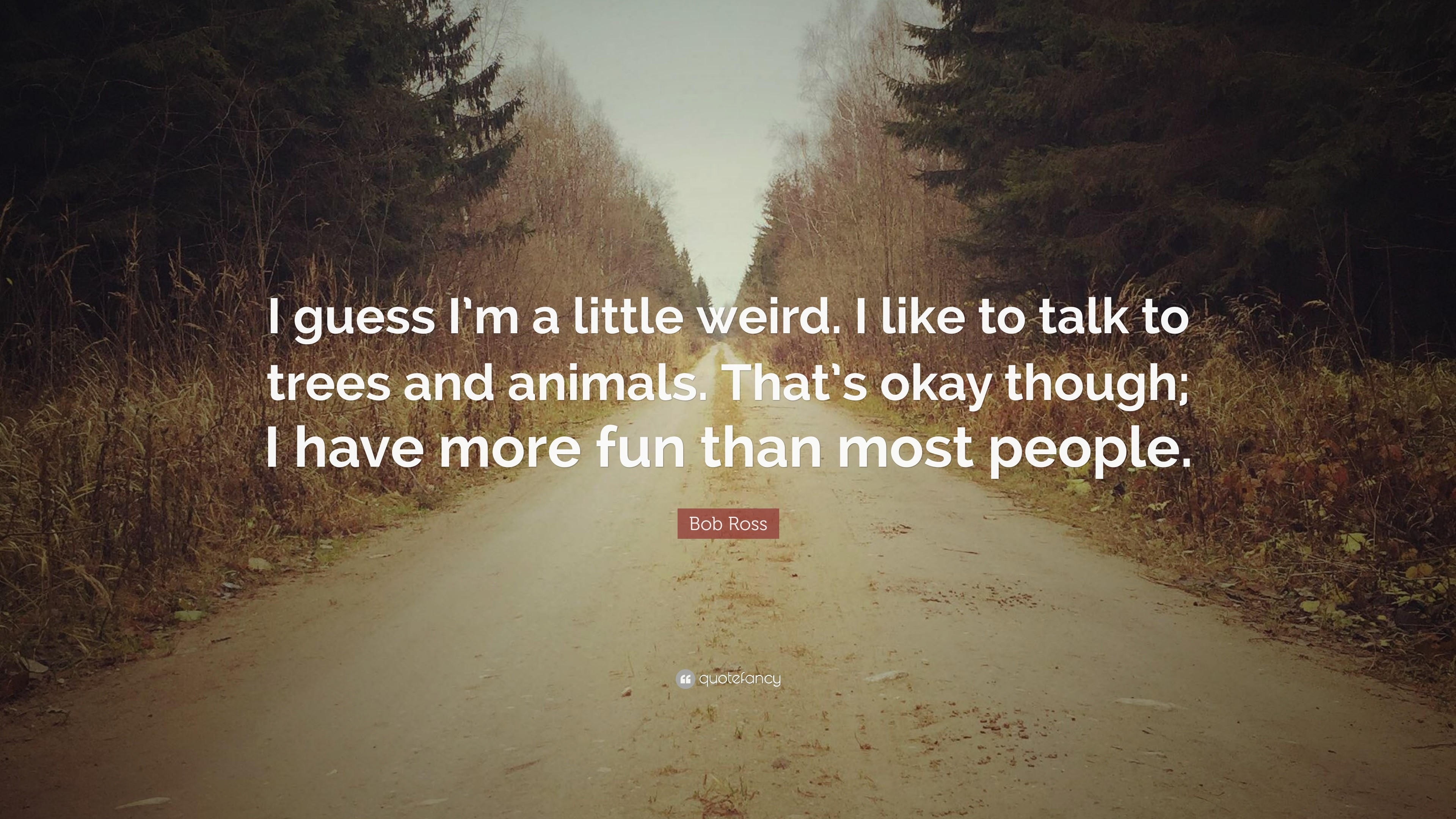 """Bob Ross Quote: """"I guess I'm a little weird. I like"""