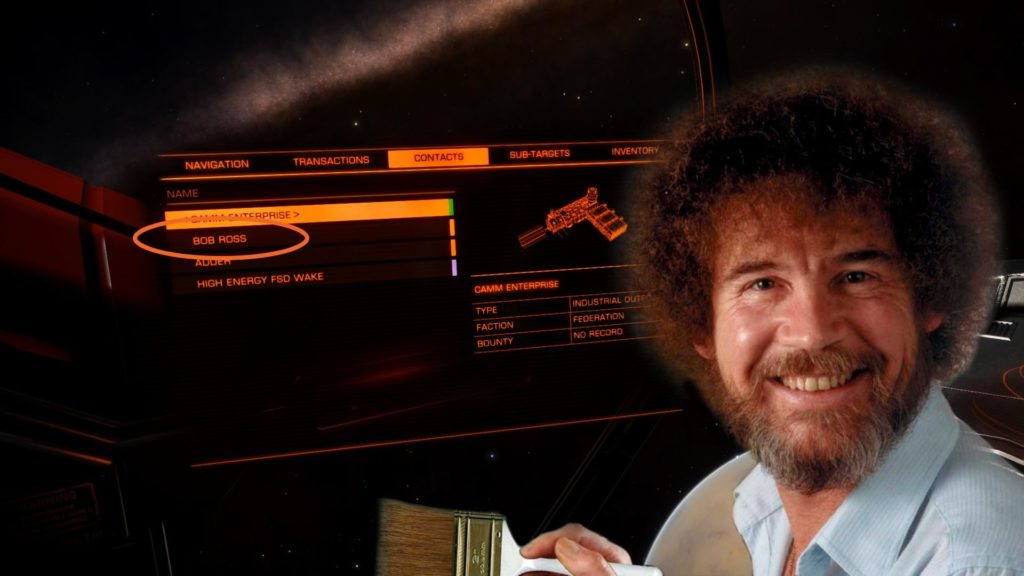 Since the Mods in /r/EliteDangerous clearly hate Bob Ross.