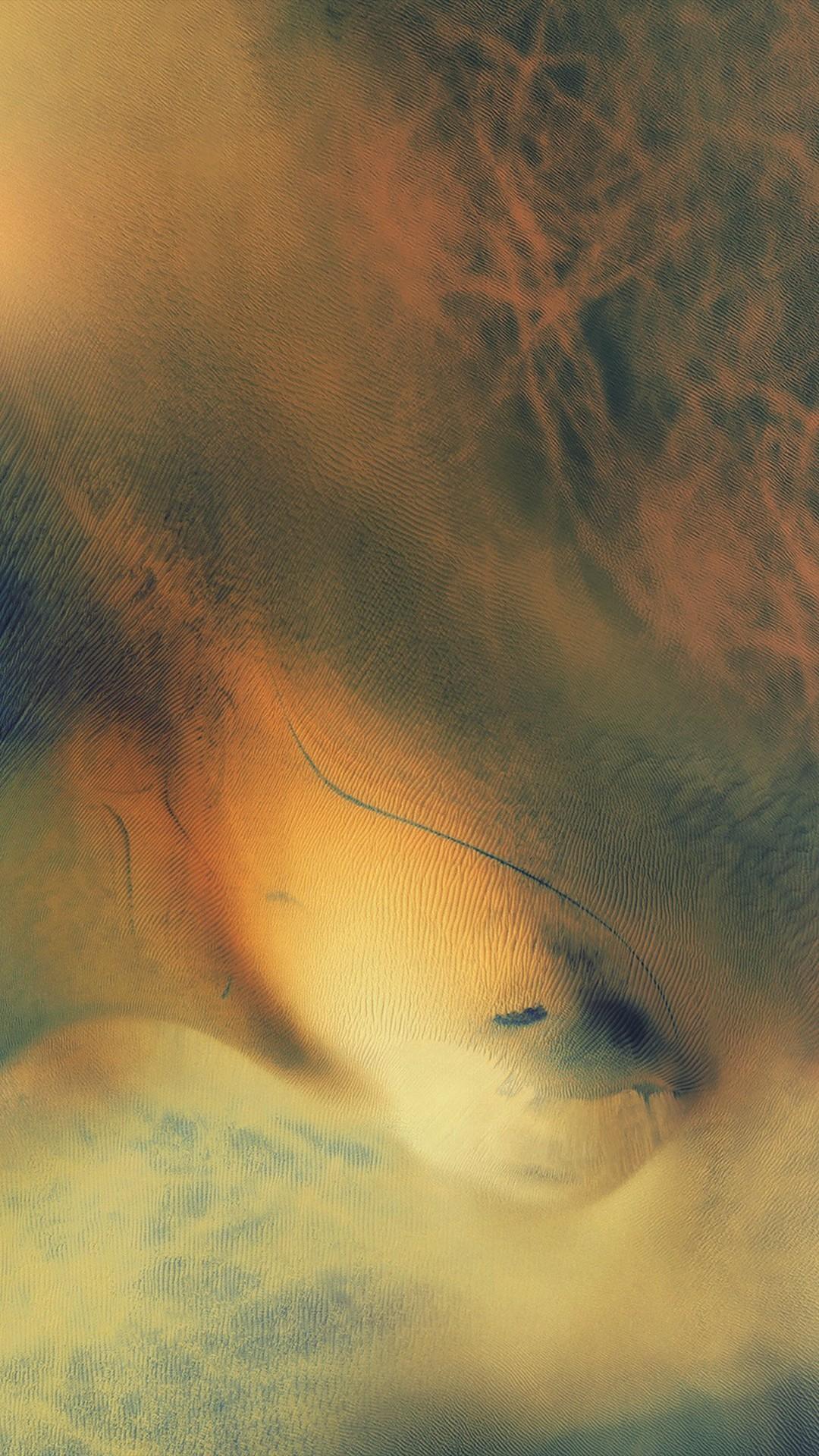Ios9 Default Still Art Texture Ocean Yellow iPhone 6 wallpaper