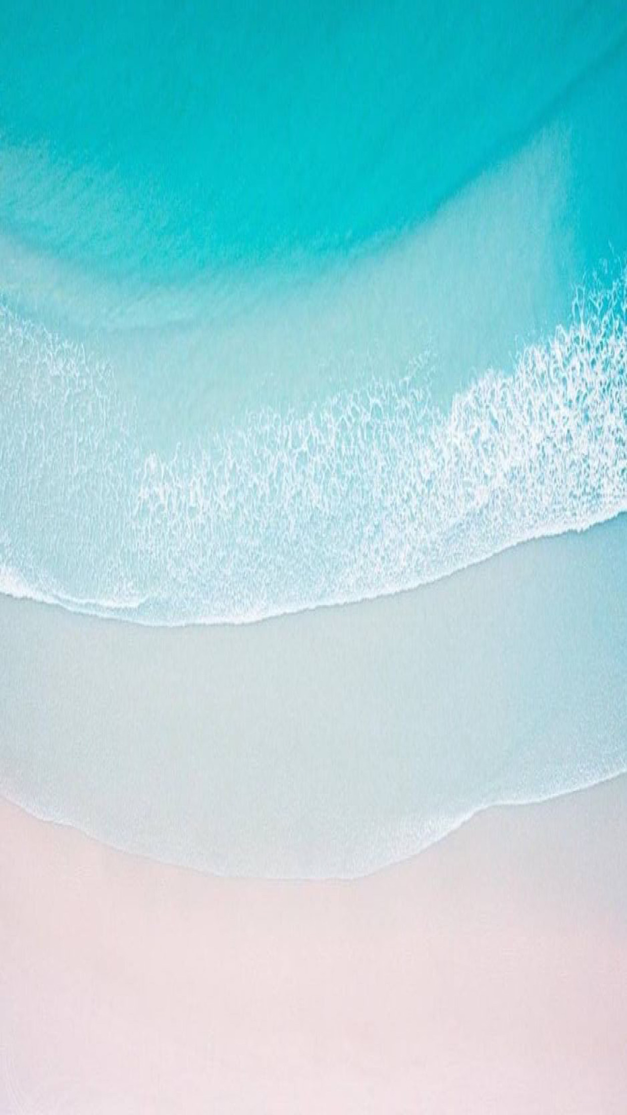 iOS 11, Turquoise, sand, beach, ocean, abstract, apple, wallpaper