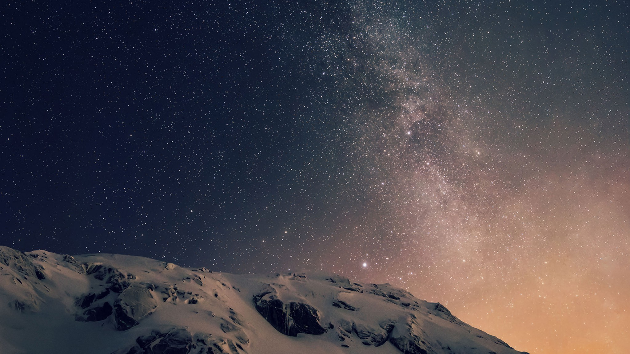 Apple iOS 8 iPhone 6 Plus Official Darker Starry Night Wallpaper