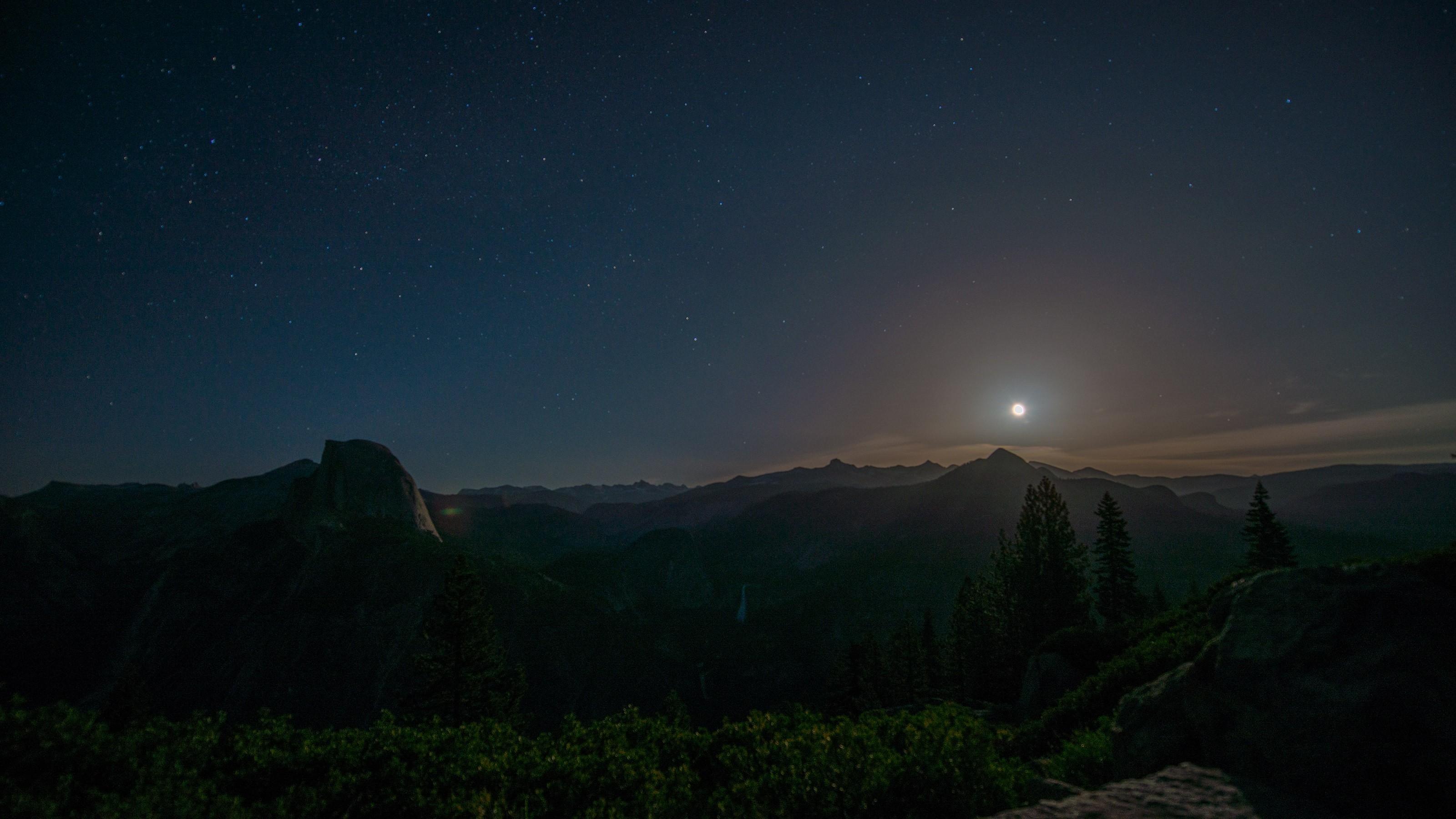 #nature, #forest, #Moon, #Yosemite Valley, #Yosemite .