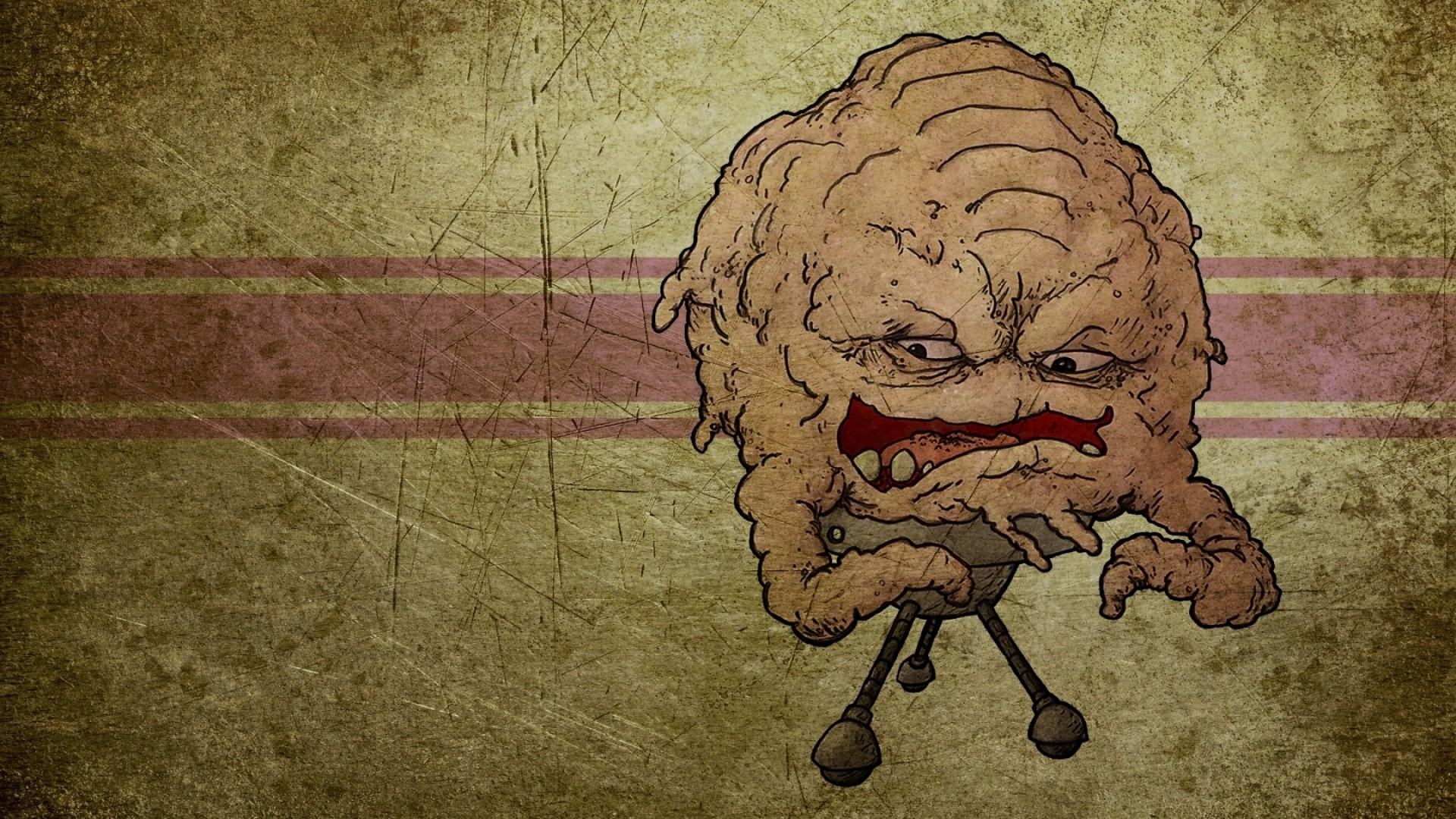 Preview wallpaper brain, drawing, evil, blood 1920×1080