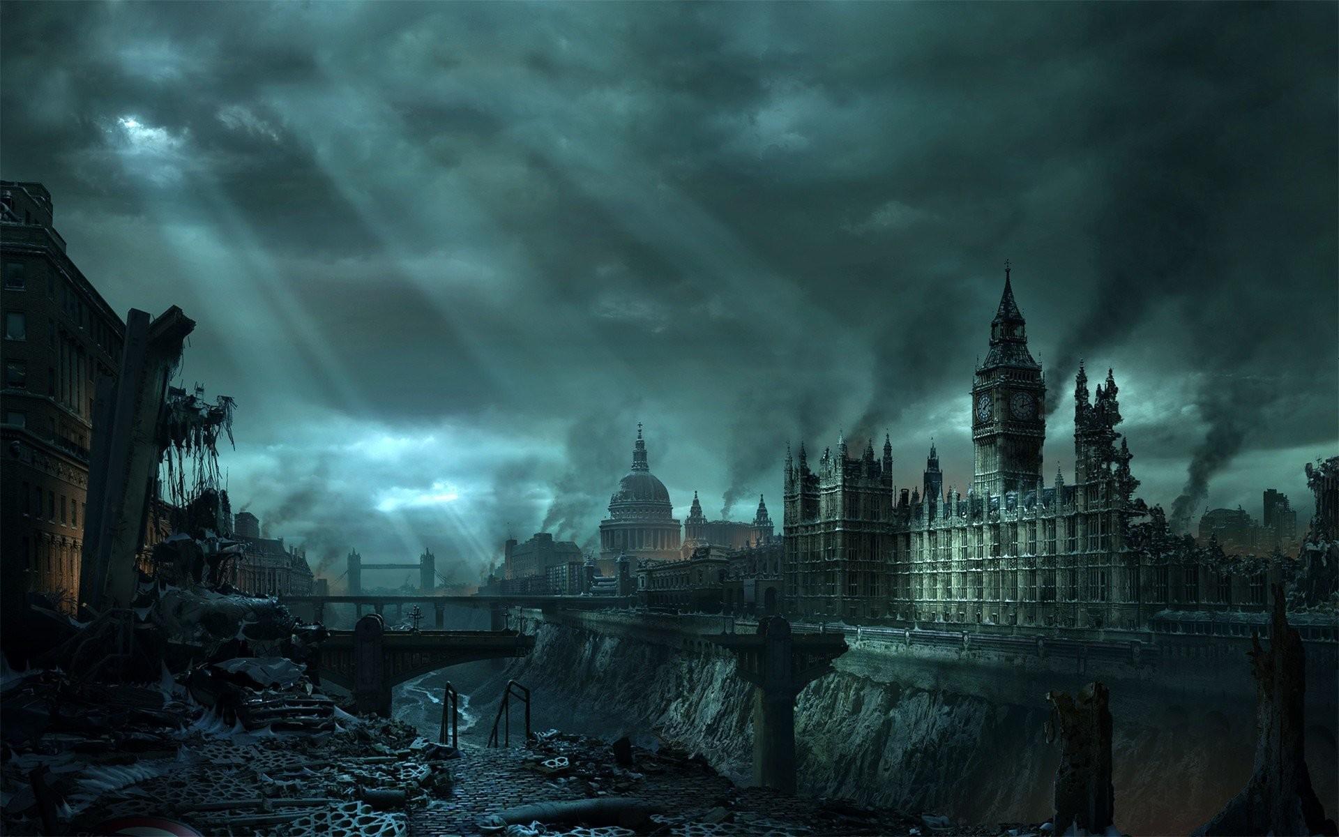 destroyed-london-england-europe-city-destruction-future-fantasy-1920×1200-wallpaper123918.jpg  970×600 pixels   City of Carnal Policy   Pinterest   Hd …