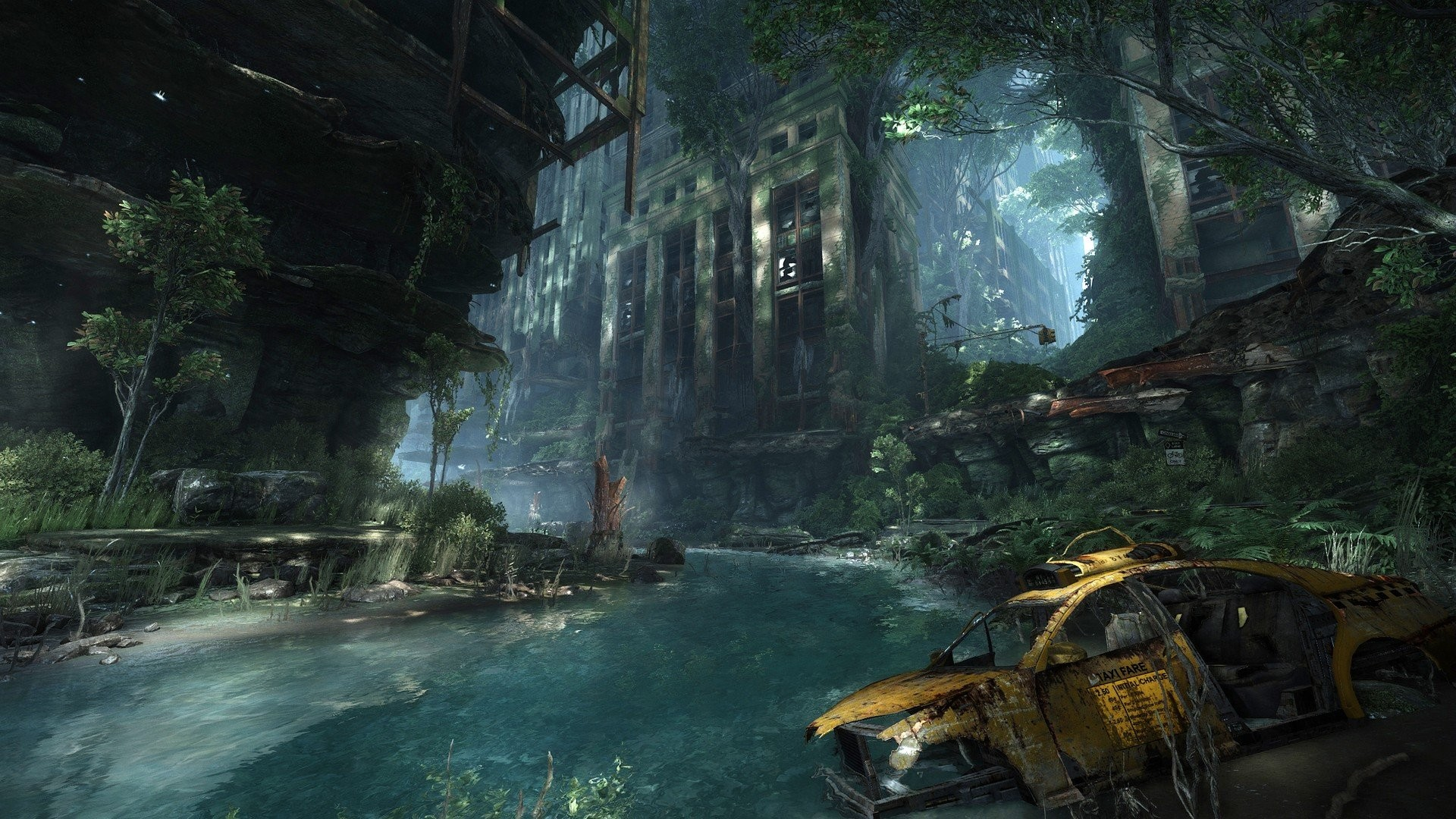 Water video games Crysis destroyed abandoned city abandoned Crysis 3 game  wallpaper     287109   WallpaperUP